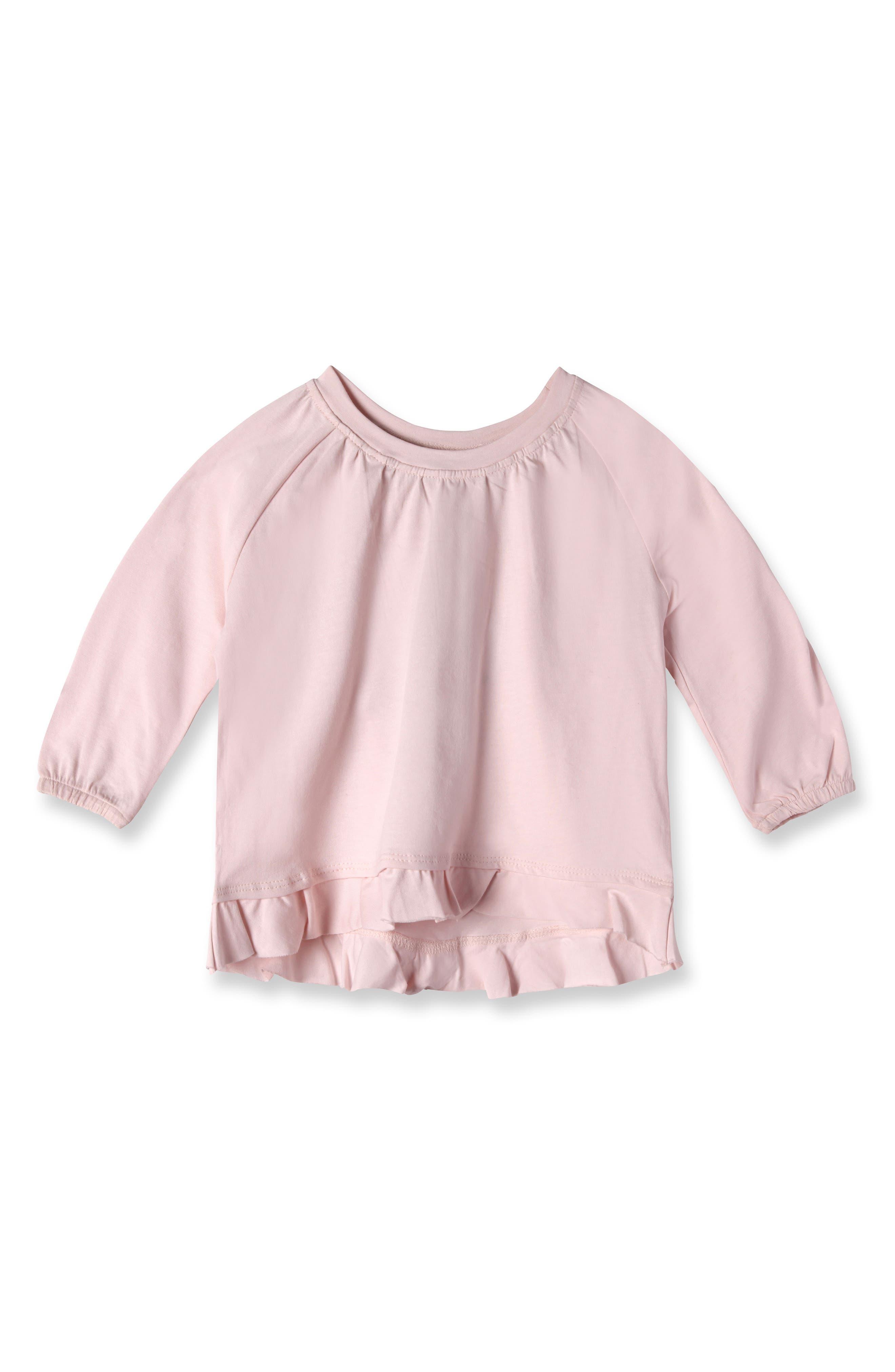 Main Image - Art & Eden Ella Organic Cotton Tee (Baby Girls)