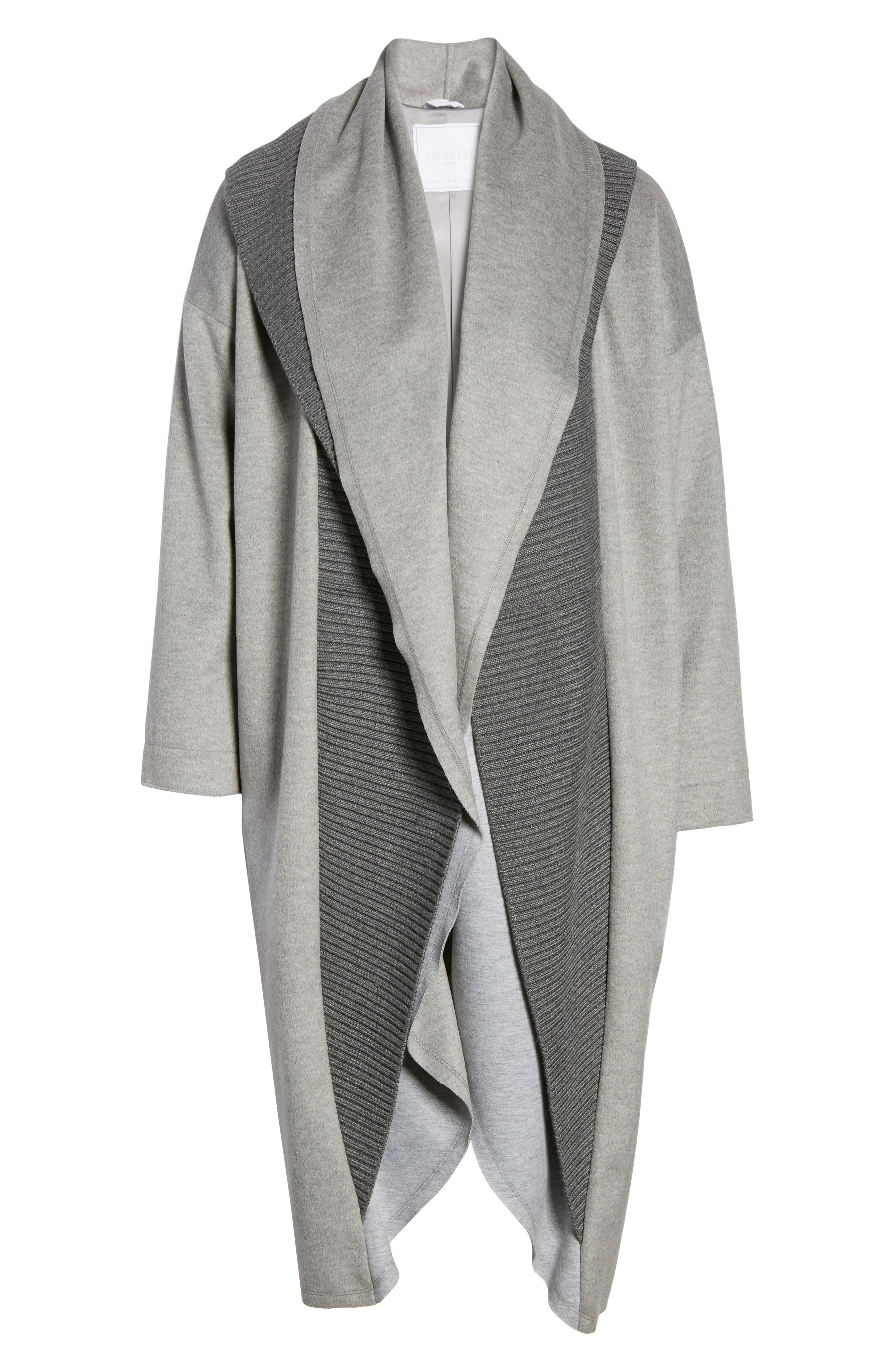 Brandy Stone Grey Duster Coat,                             Alternate thumbnail 6, color,                             Stone Grey