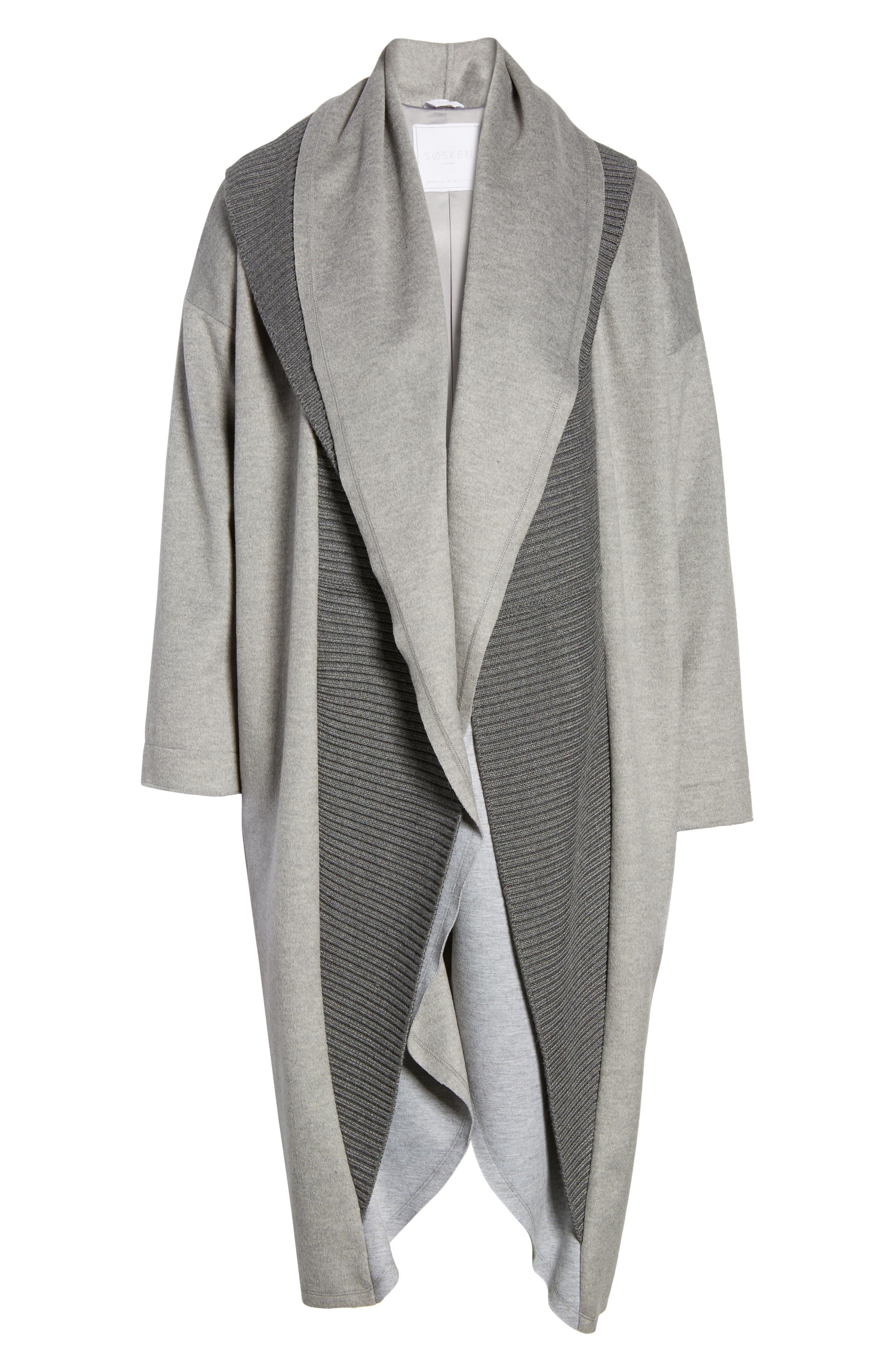 Alternate Image 6  - Sosken Brandy Stone Grey Duster Coat