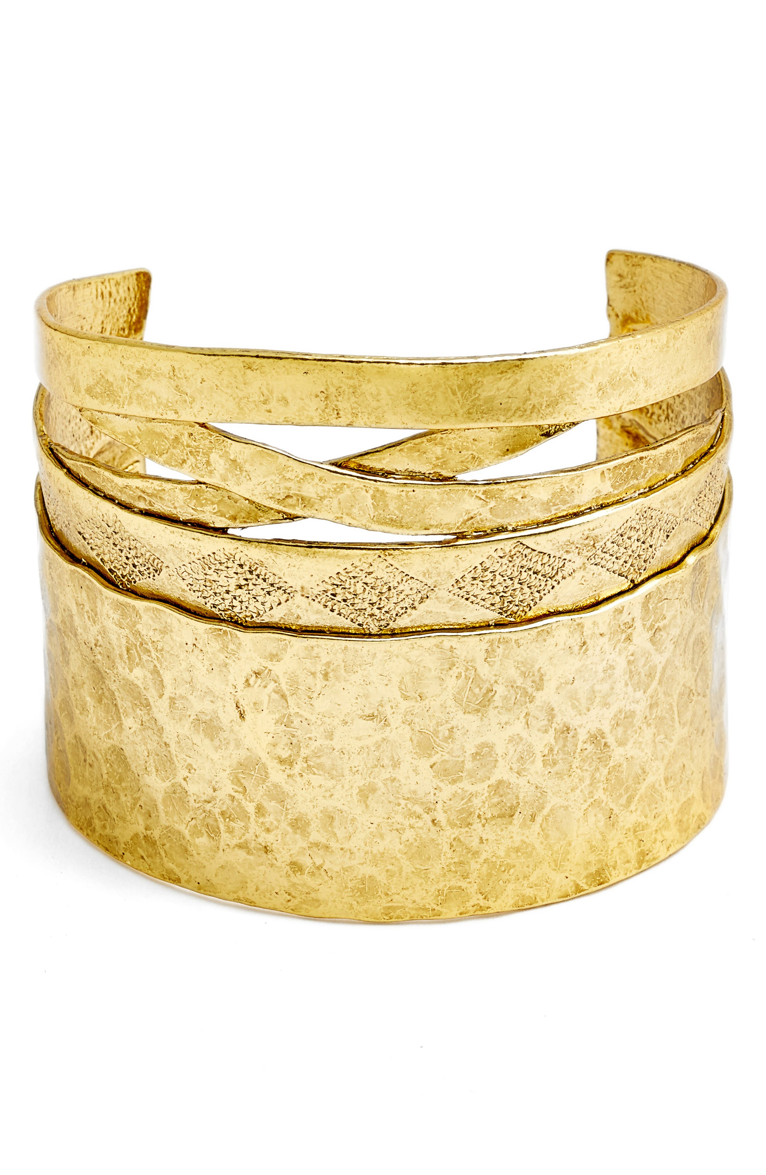 Wide Cuff,                             Main thumbnail 1, color,                             Gold
