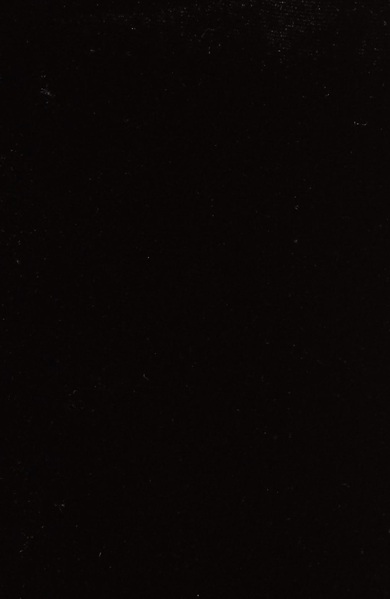 Short Sleeve Velvet & Lace Top,                             Alternate thumbnail 5, color,                             Black