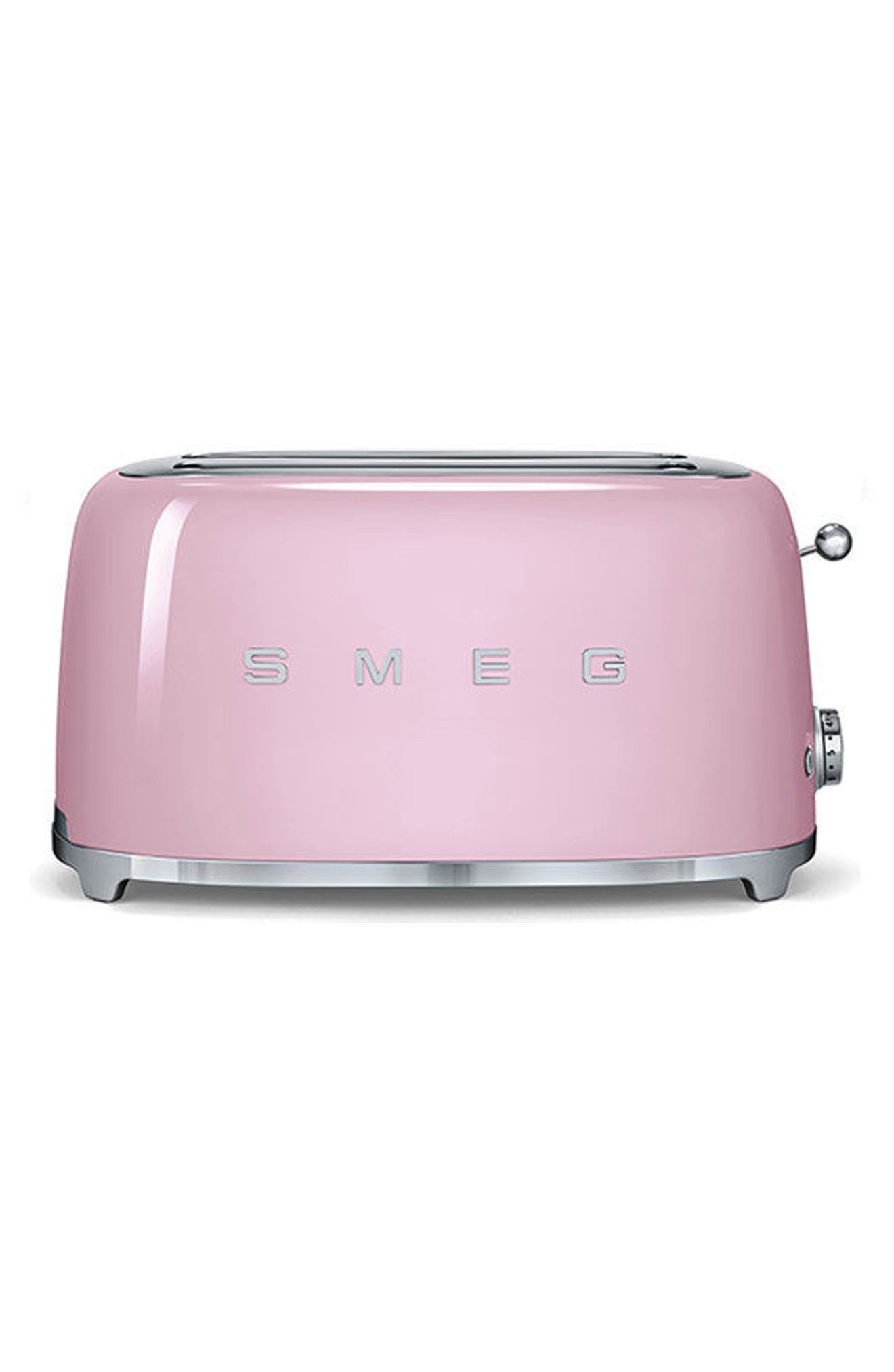 50s Retro Style Four-Slice Toaster,                         Main,                         color, Pink