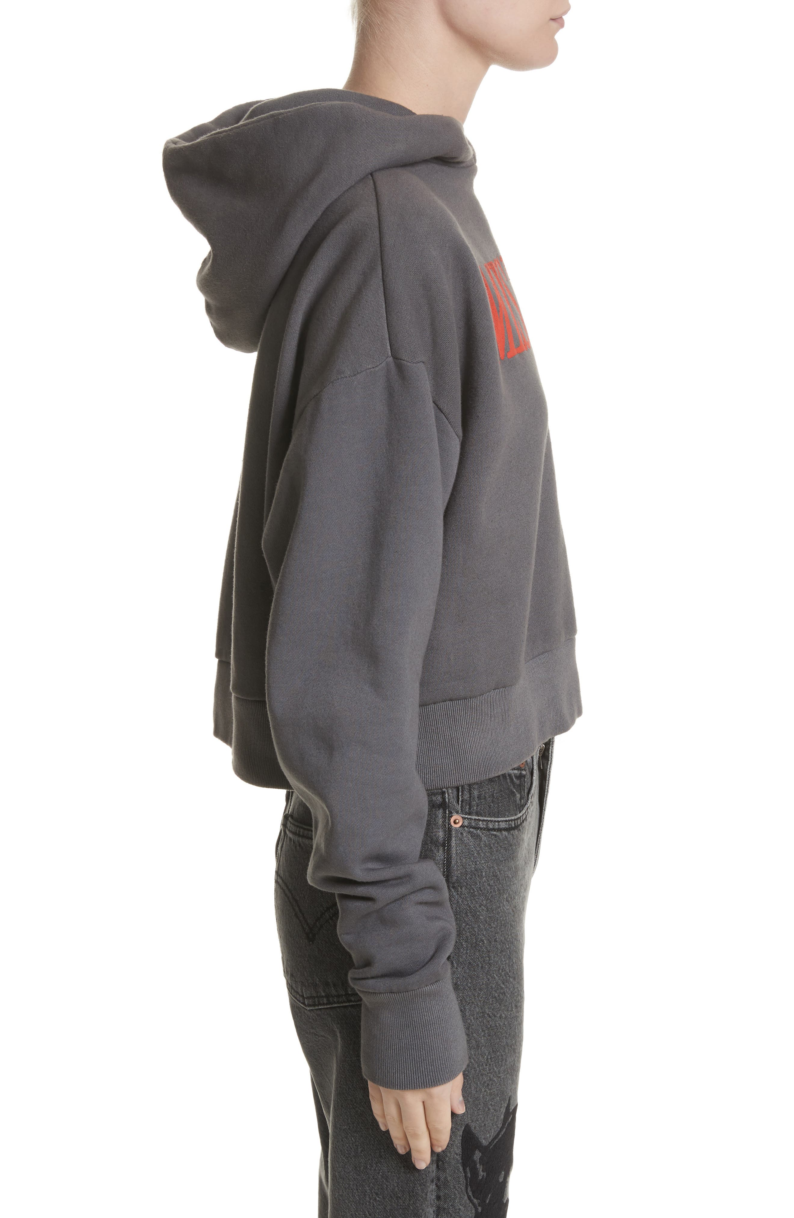 Misery Graphic Pullover Hoodie,                             Alternate thumbnail 3, color,                             Grey