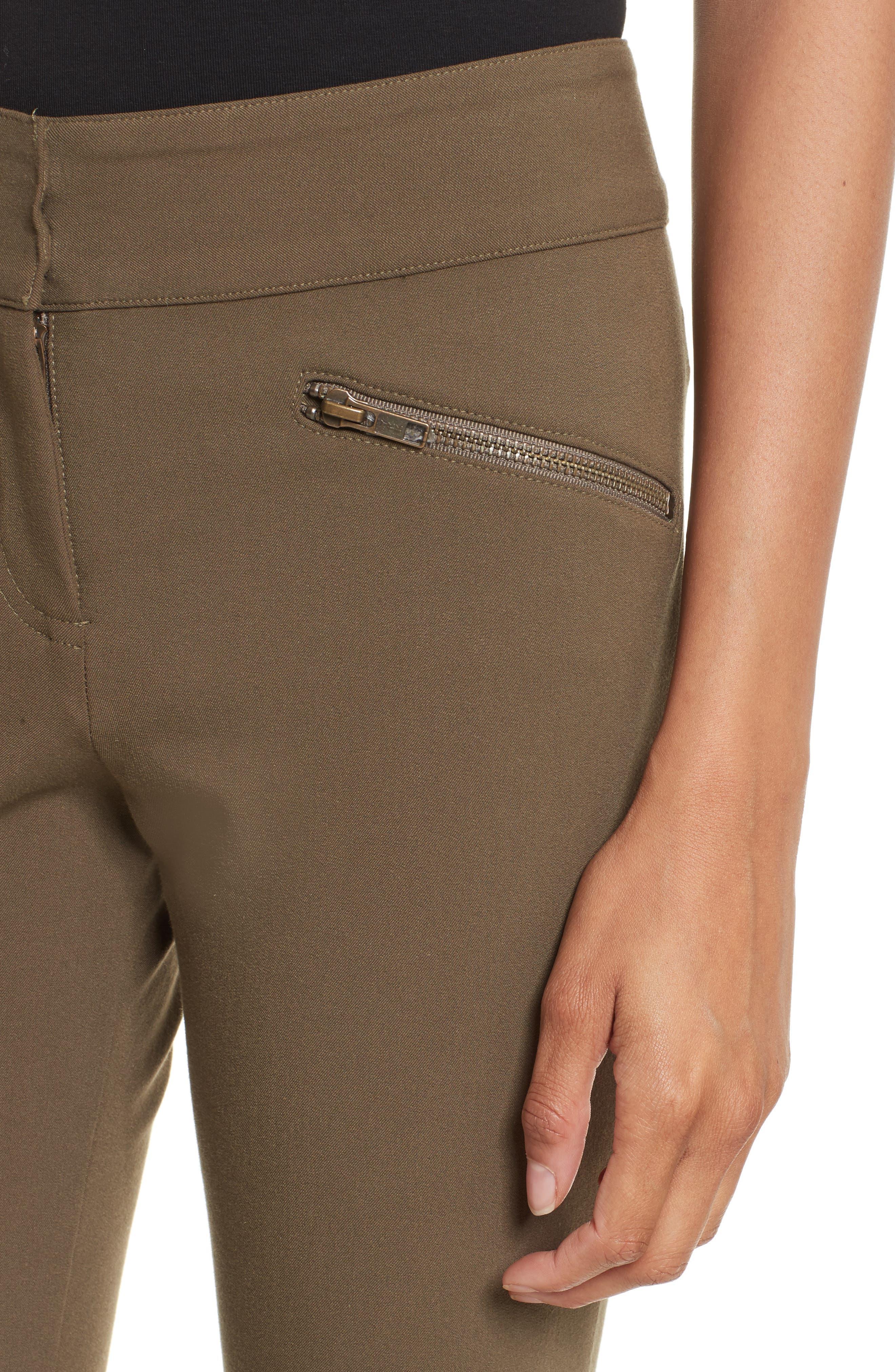 Alternate Image 4  - Veronica Beard Adelaide Zipper Detail Crop Pants
