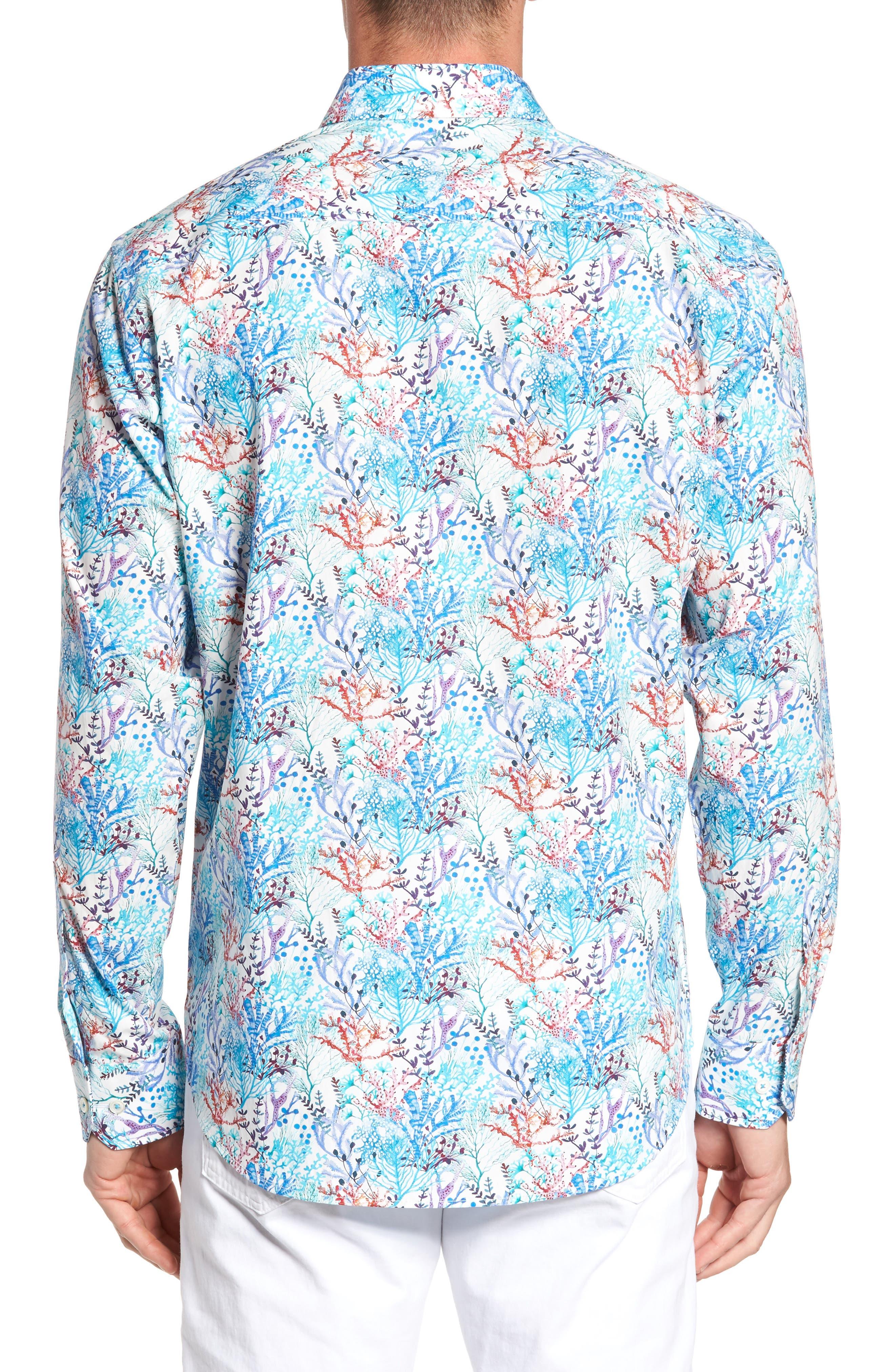 Alternate Image 2  - Bugatchi Classic Fit Floral Print Sport Shirt
