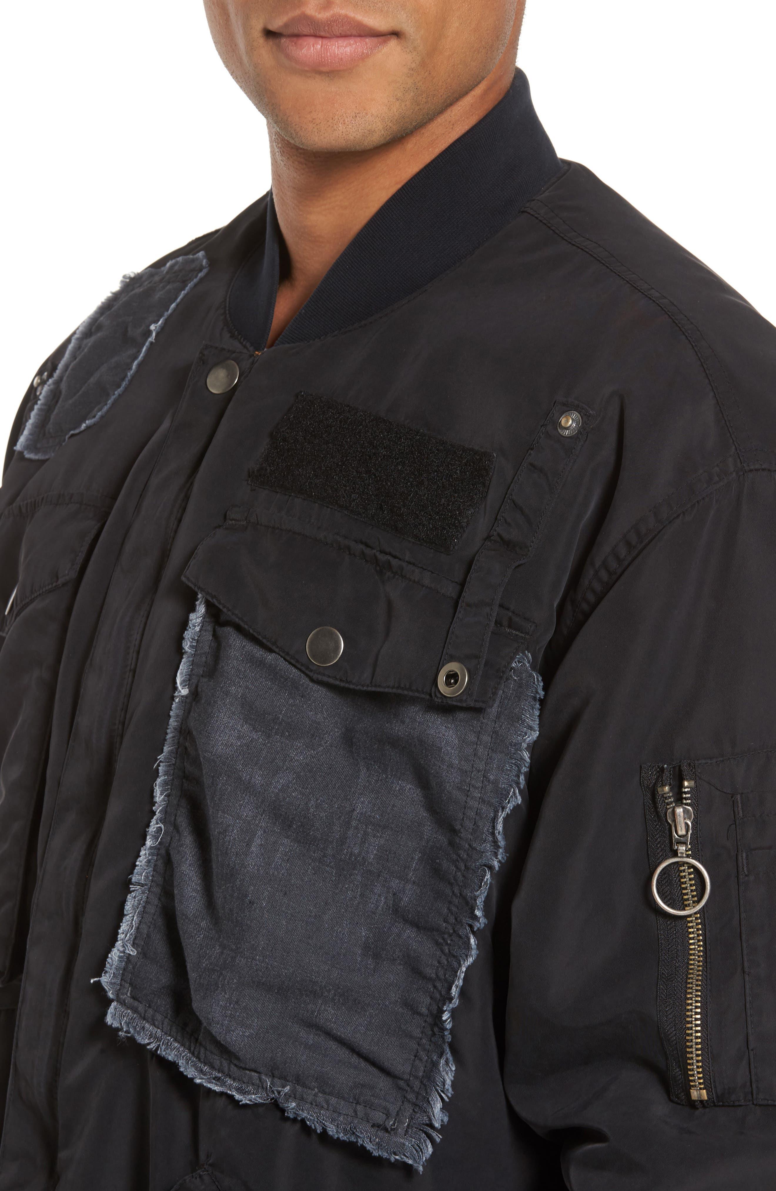 Alternate Image 4  - Hudson Jeans Echo Oversize Bomber Jacket