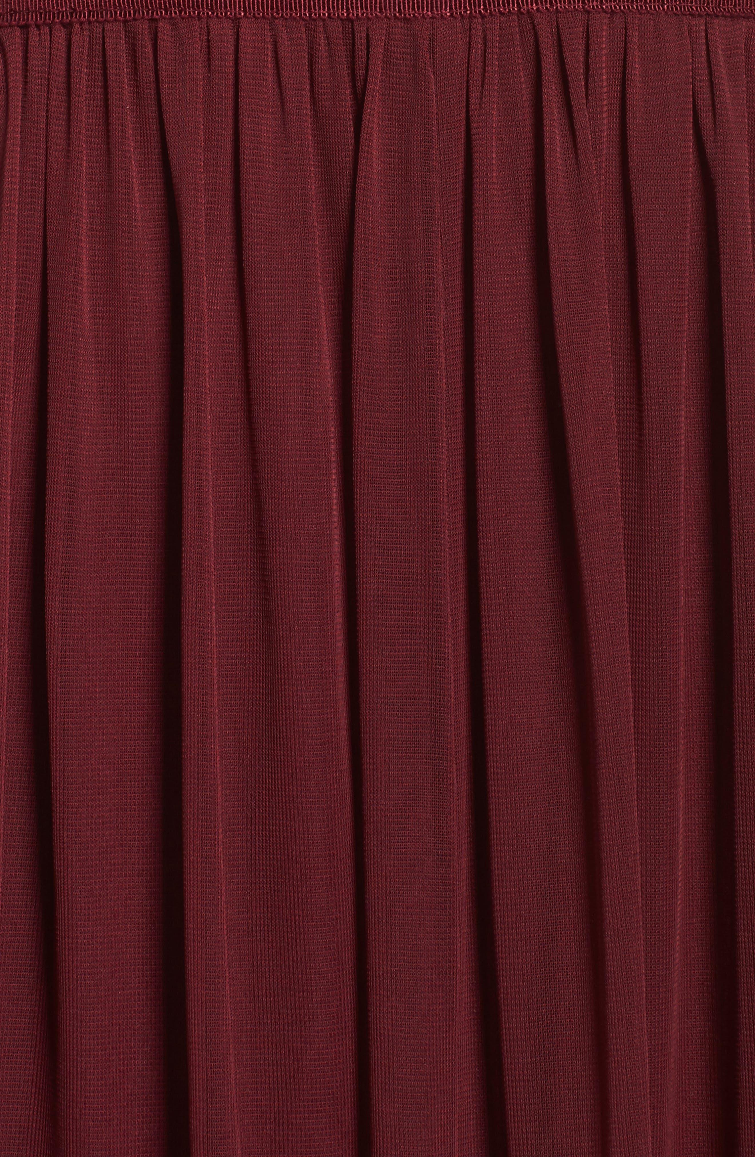 Sequin Lace & Tulle Gown,                             Alternate thumbnail 5, color,                             Black Cherry