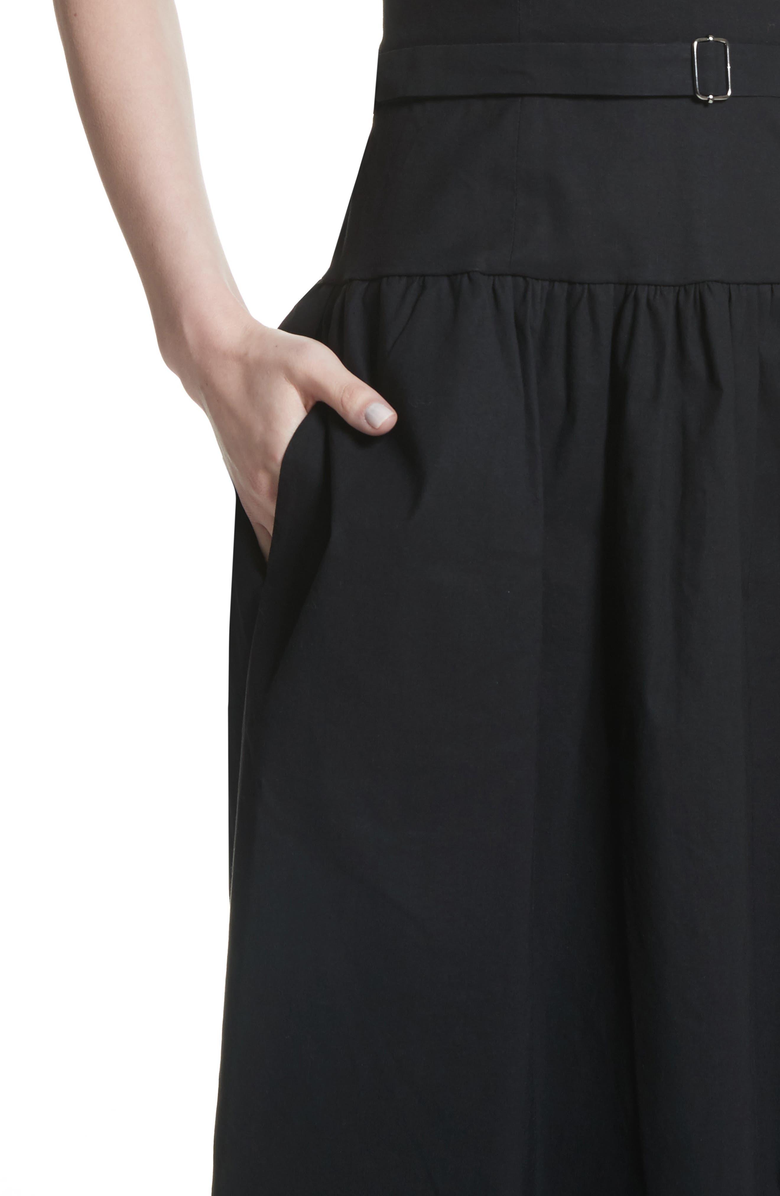Strapless Dress,                             Alternate thumbnail 4, color,                             Black
