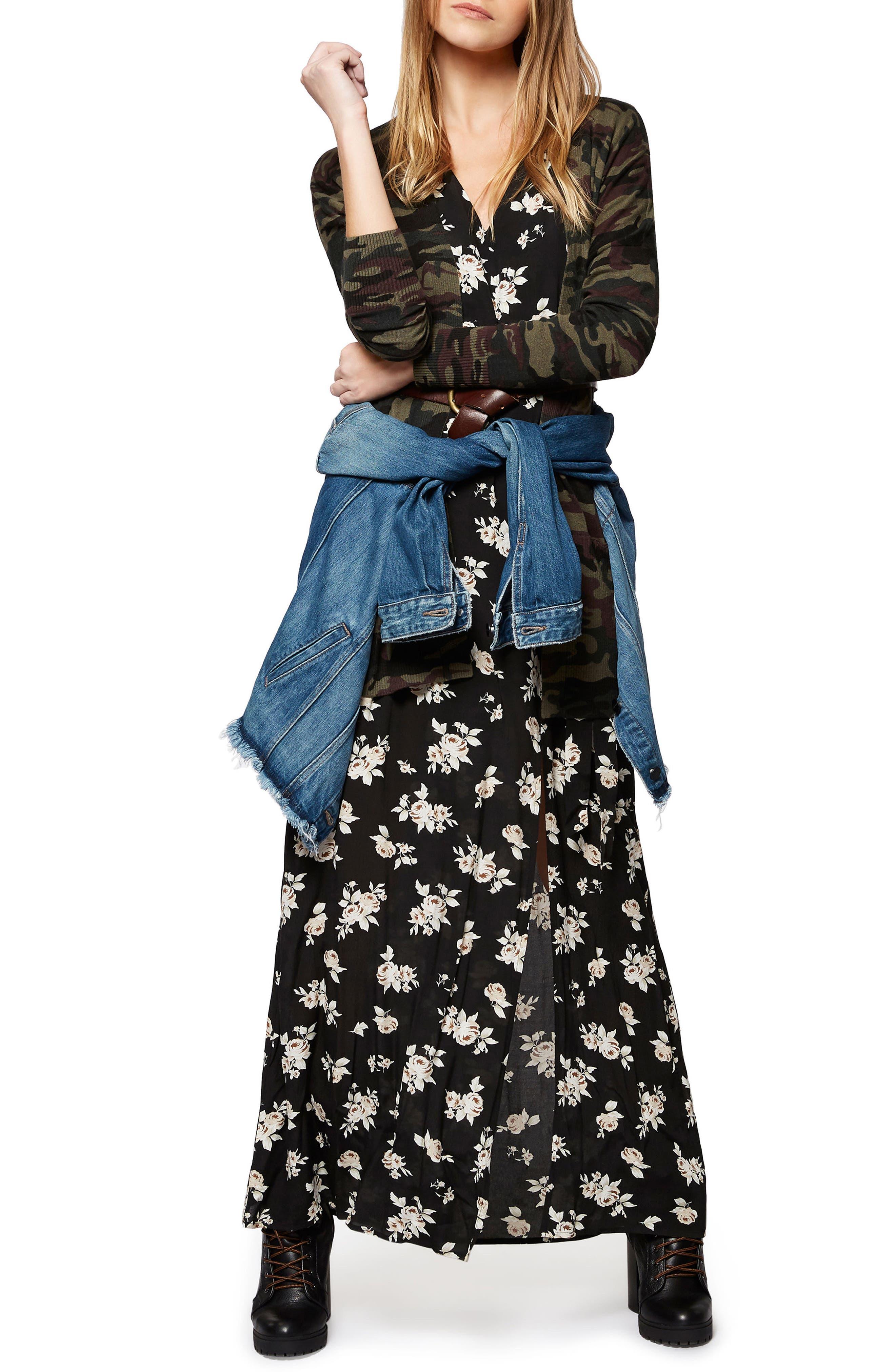 Alternate Image 2  - Sanctuary Coco Floral A-Line Maxi Dress