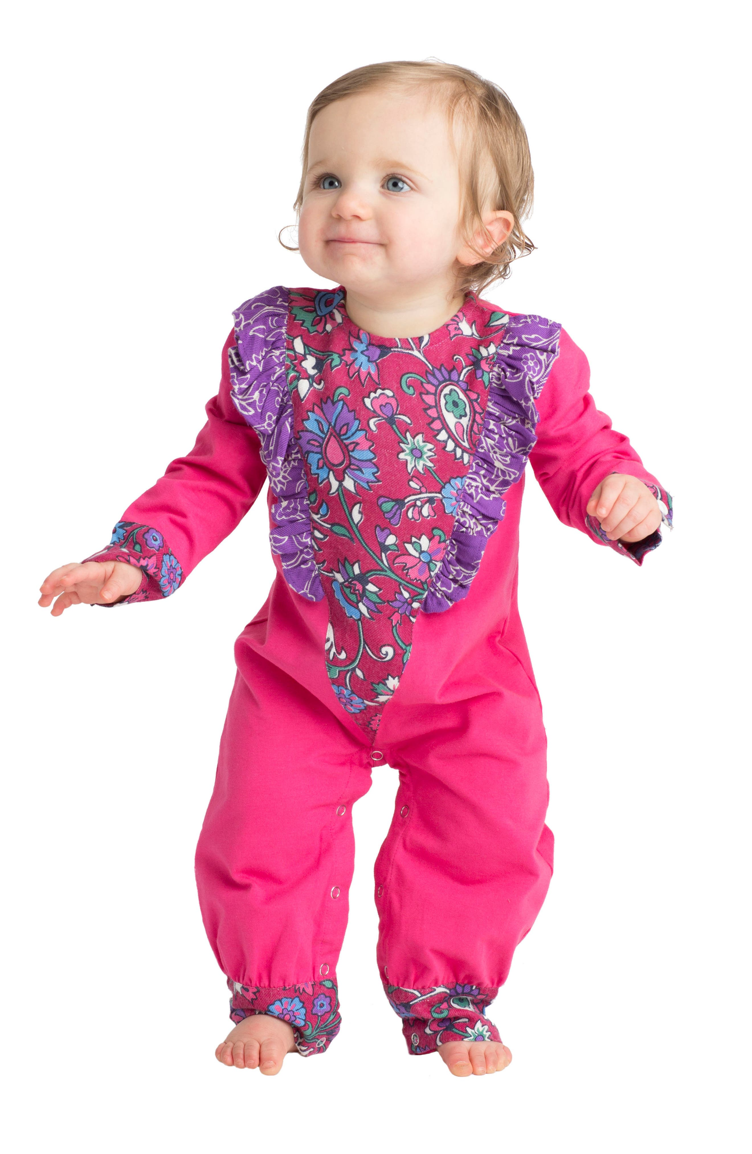 Alternate Image 2  - Masalababy Fantasia Romper (Baby Girls)