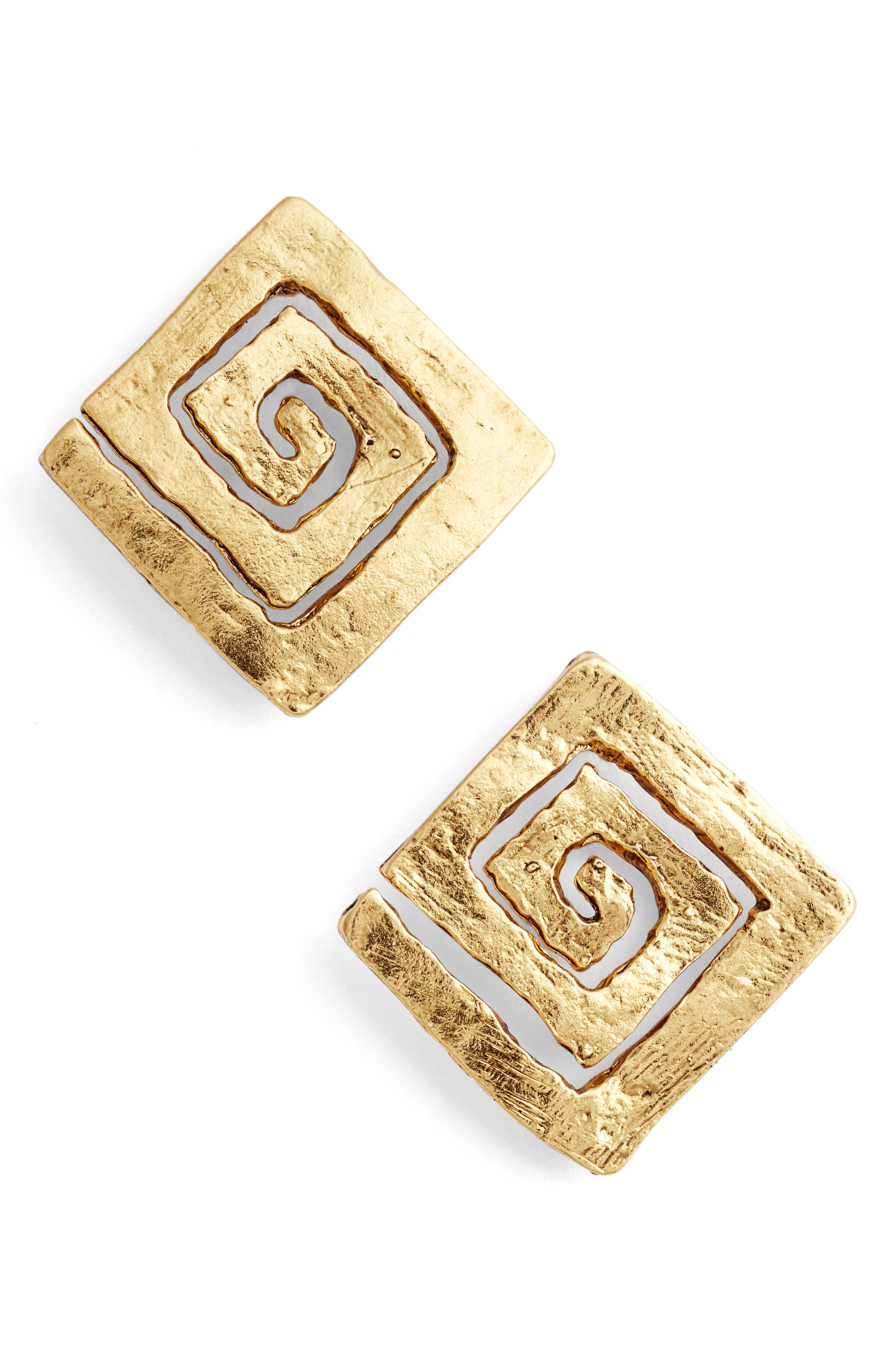 Karine Sultan Square Stud Earrings