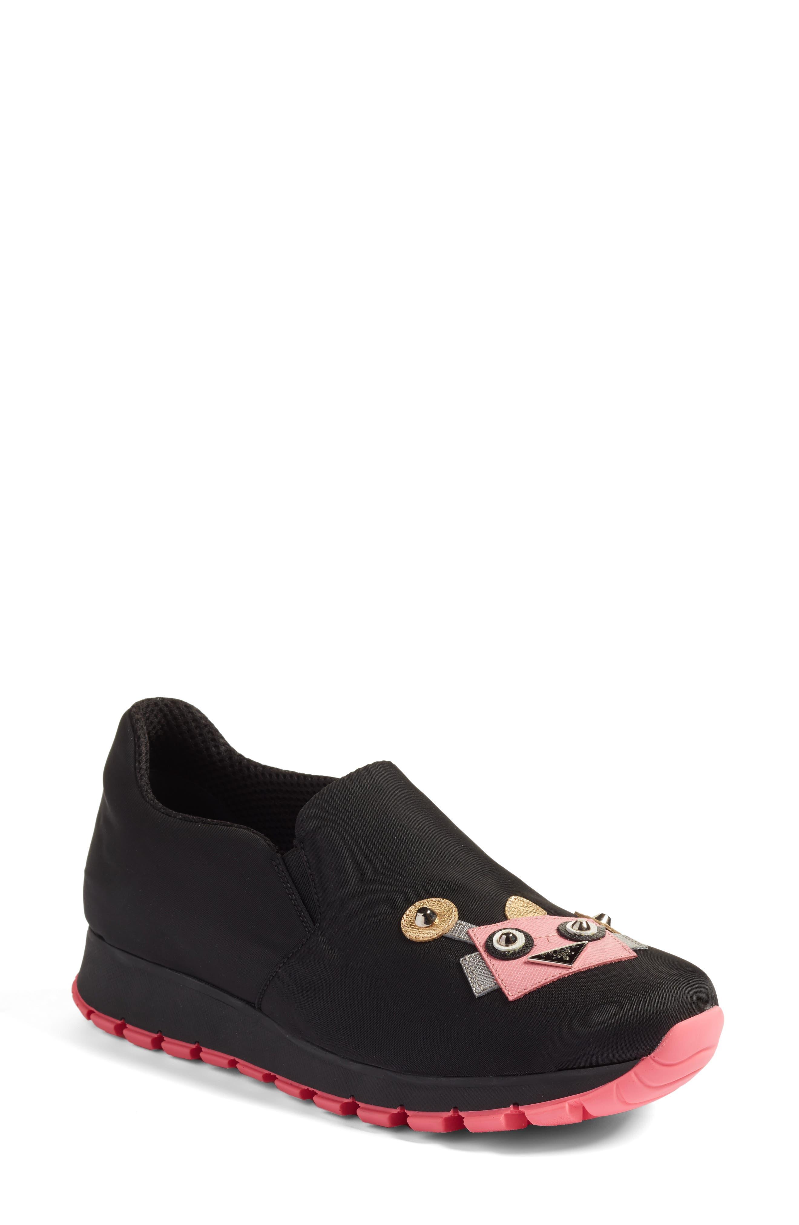 Main Image - Prada Robot Slip-On Sneaker (Women)