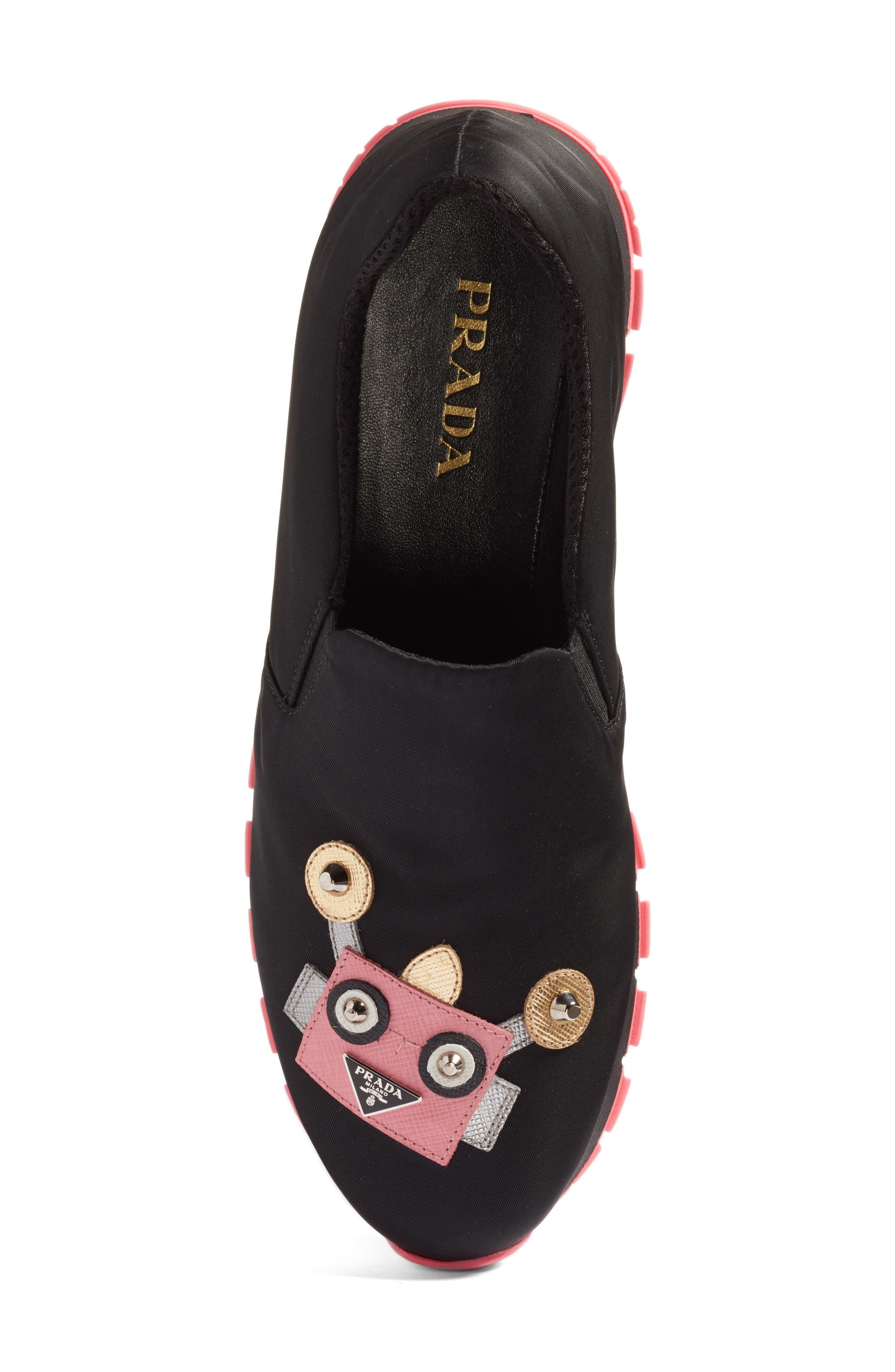 Alternate Image 5  - Prada Robot Slip-On Sneaker (Women)