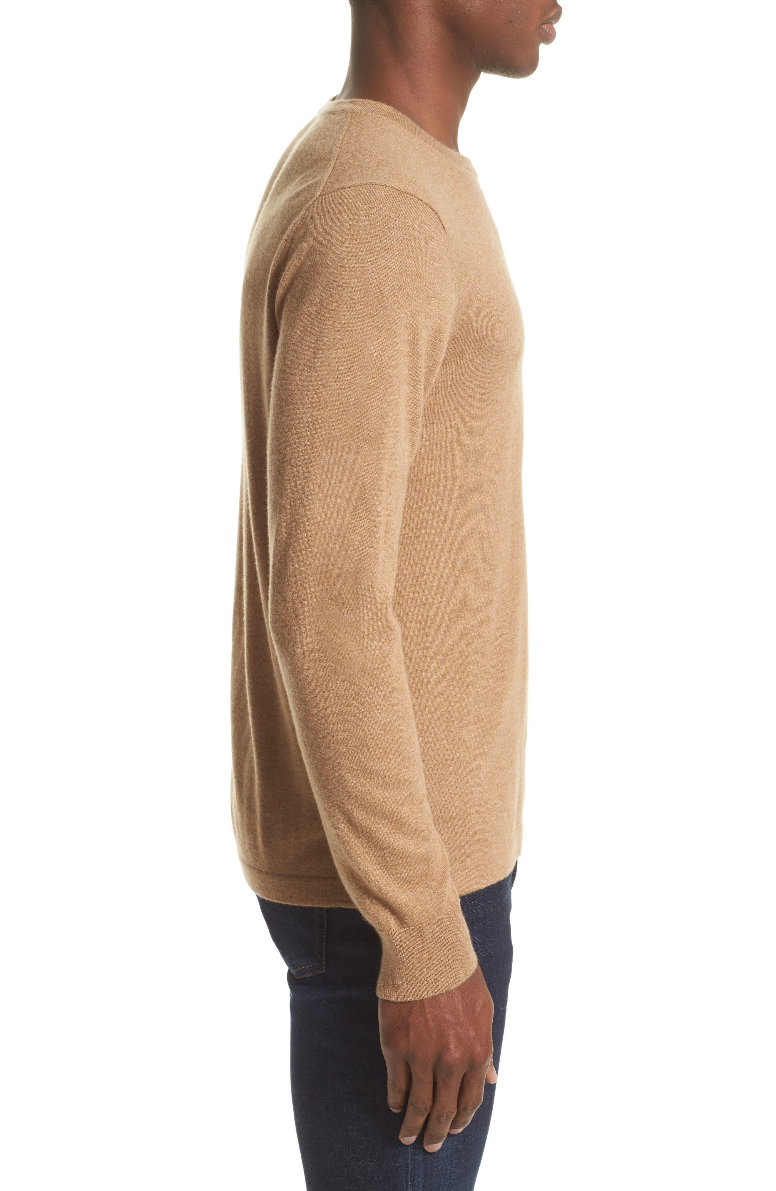 Cashmere Pocket T-Shirt,                             Alternate thumbnail 3, color,                             Camel