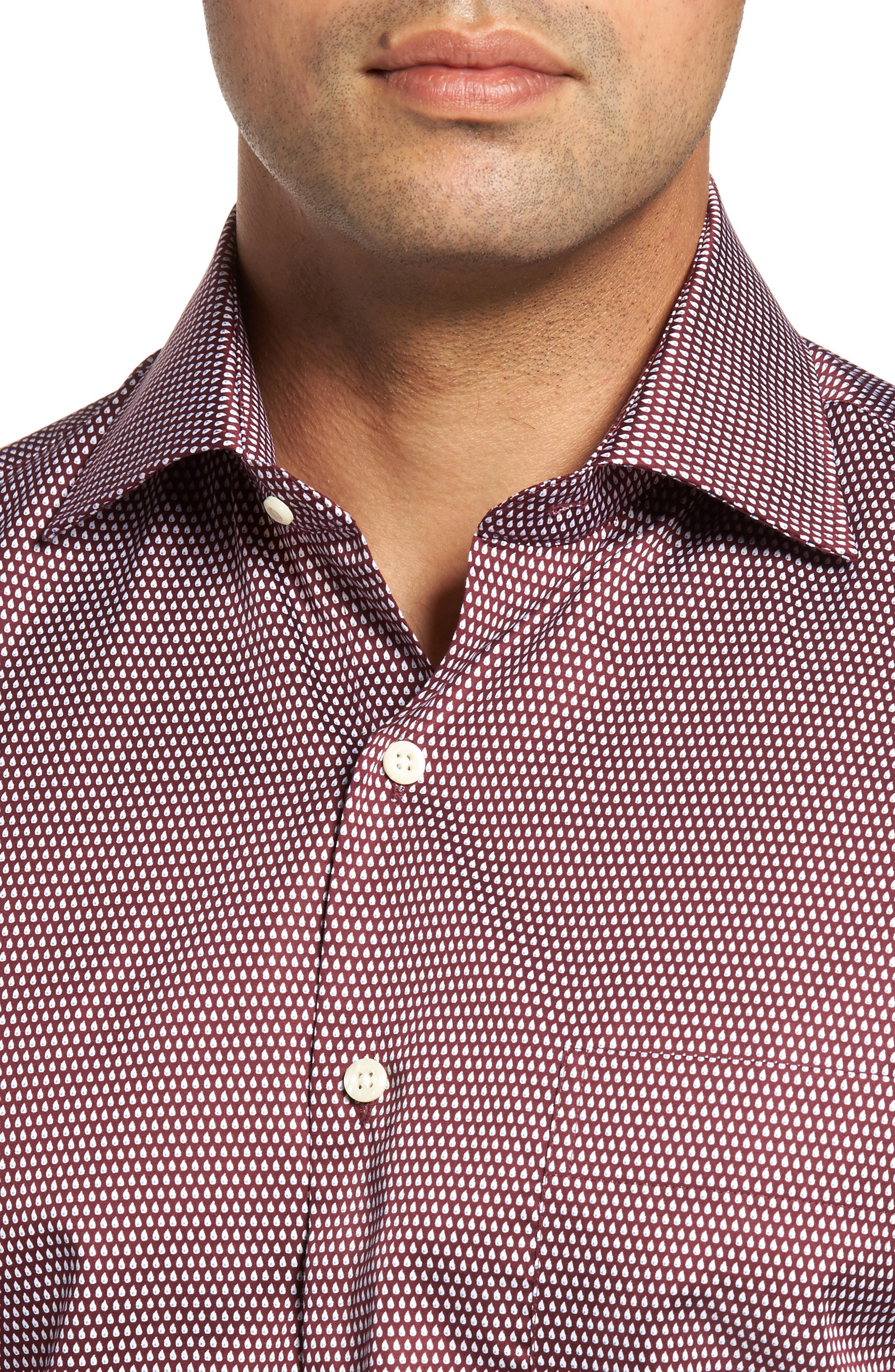 Single Flame Regular Fit Sport Shirt,                             Alternate thumbnail 4, color,                             French Wine