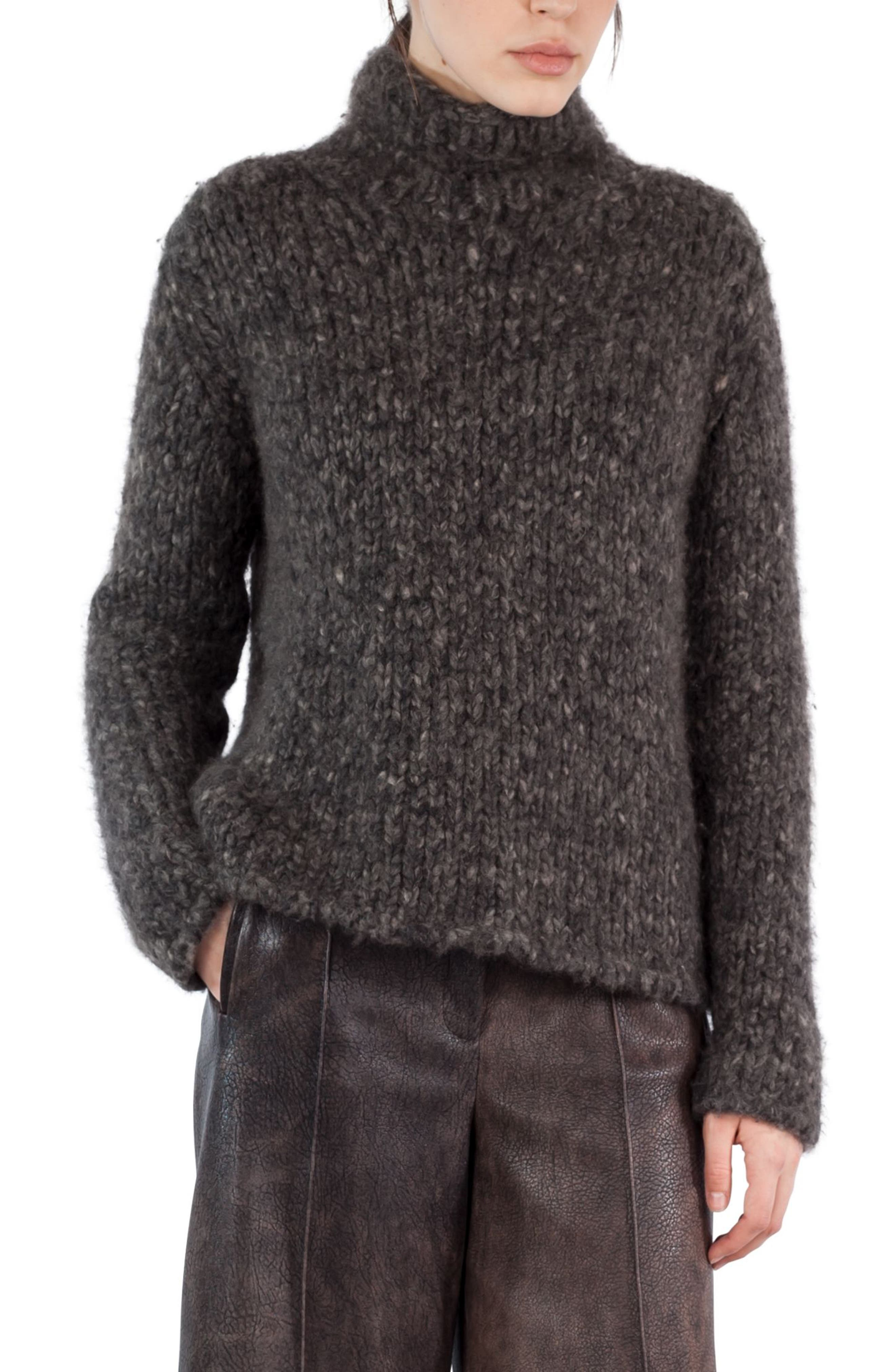 Mélange Wool & Cashmere Sweater,                         Main,                         color, Taupe