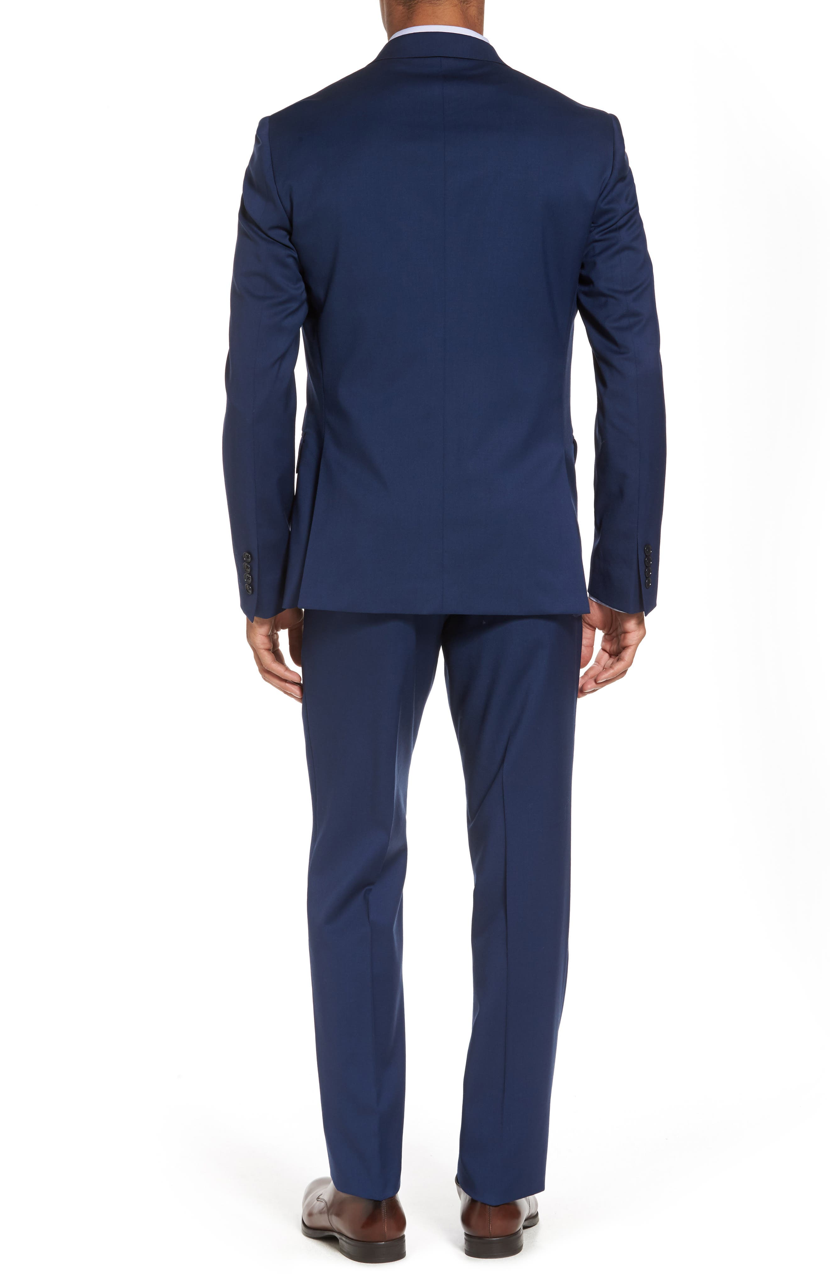 Classic Fit Solid Wool Suit,                             Alternate thumbnail 2, color,                             High Blue