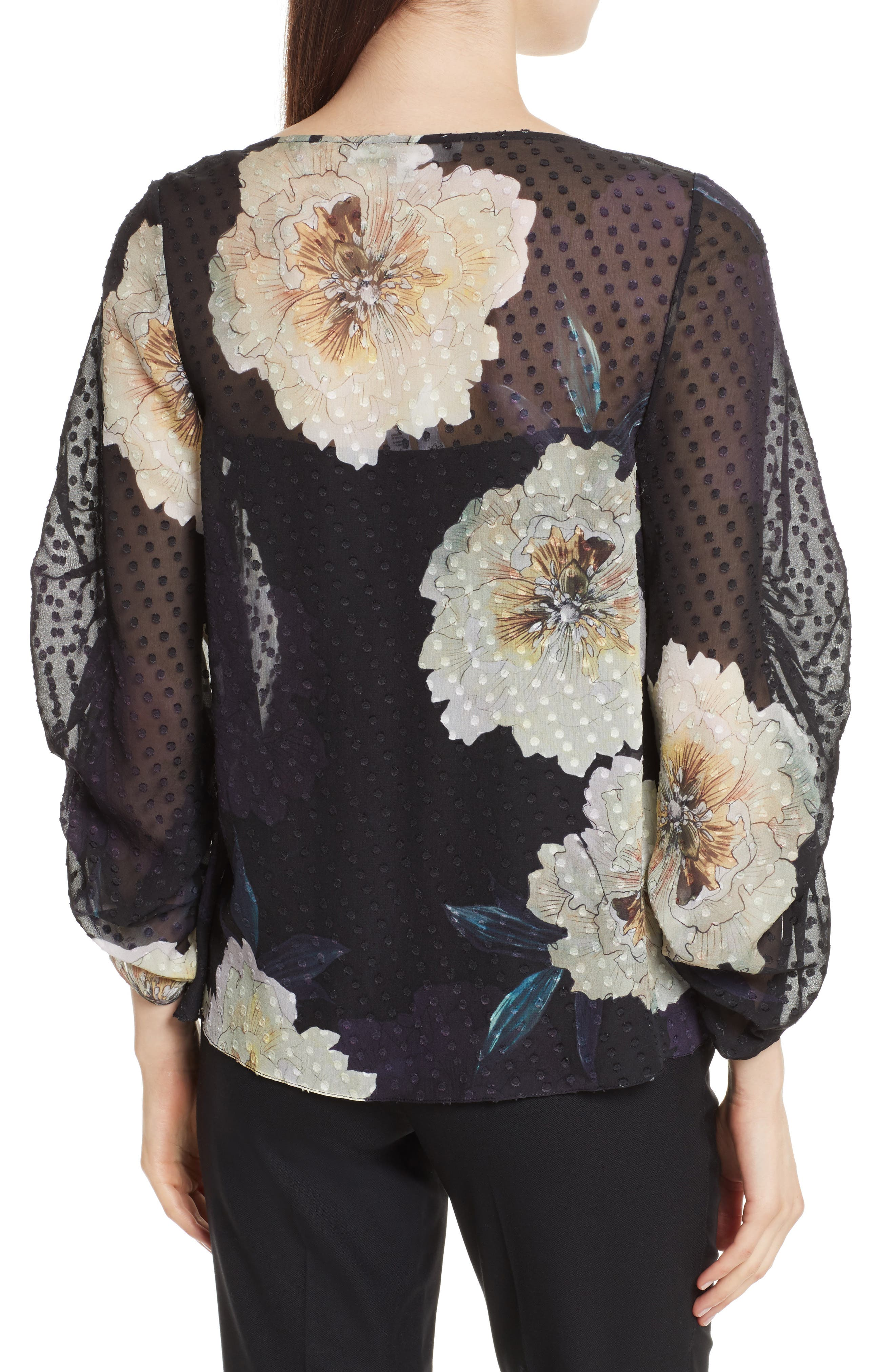 Alternate Image 2  - Tracy Reese Silk Blossom Blouse