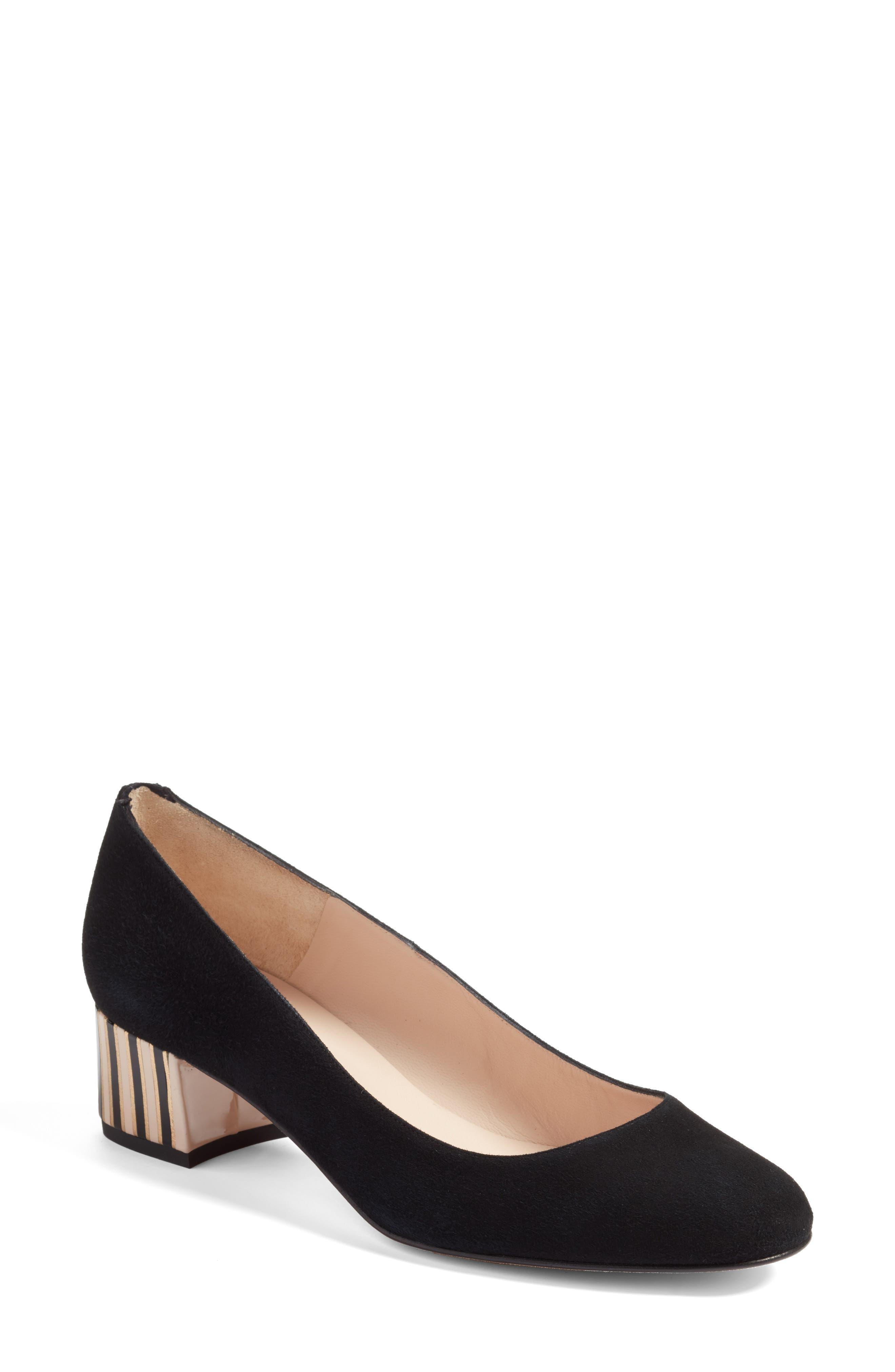 Maisy Embellished Heel Pump,                         Main,                         color, Black