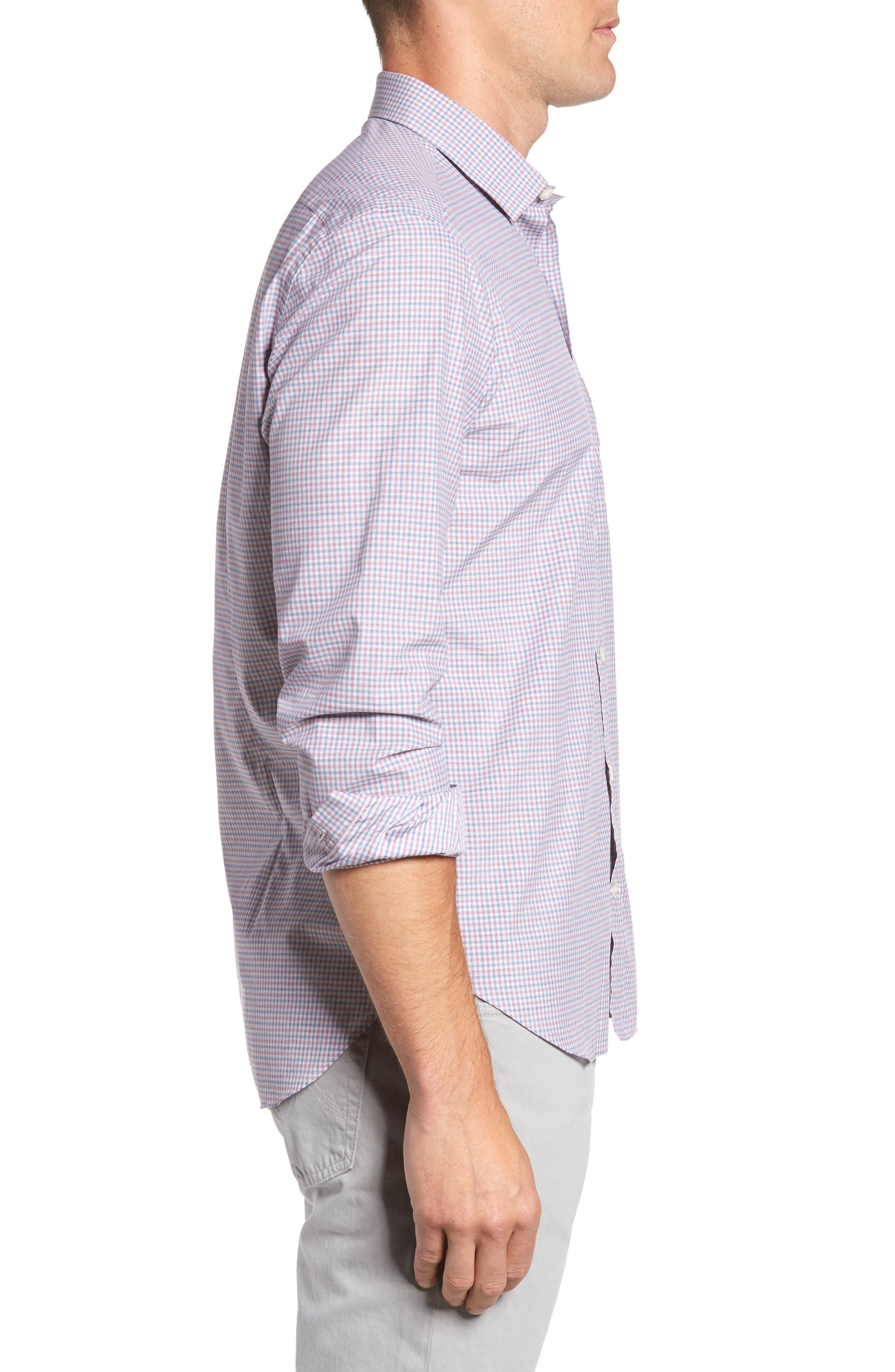 Alternate Image 3  - Culturata Trim Fit Mini Plaid Sport Shirt