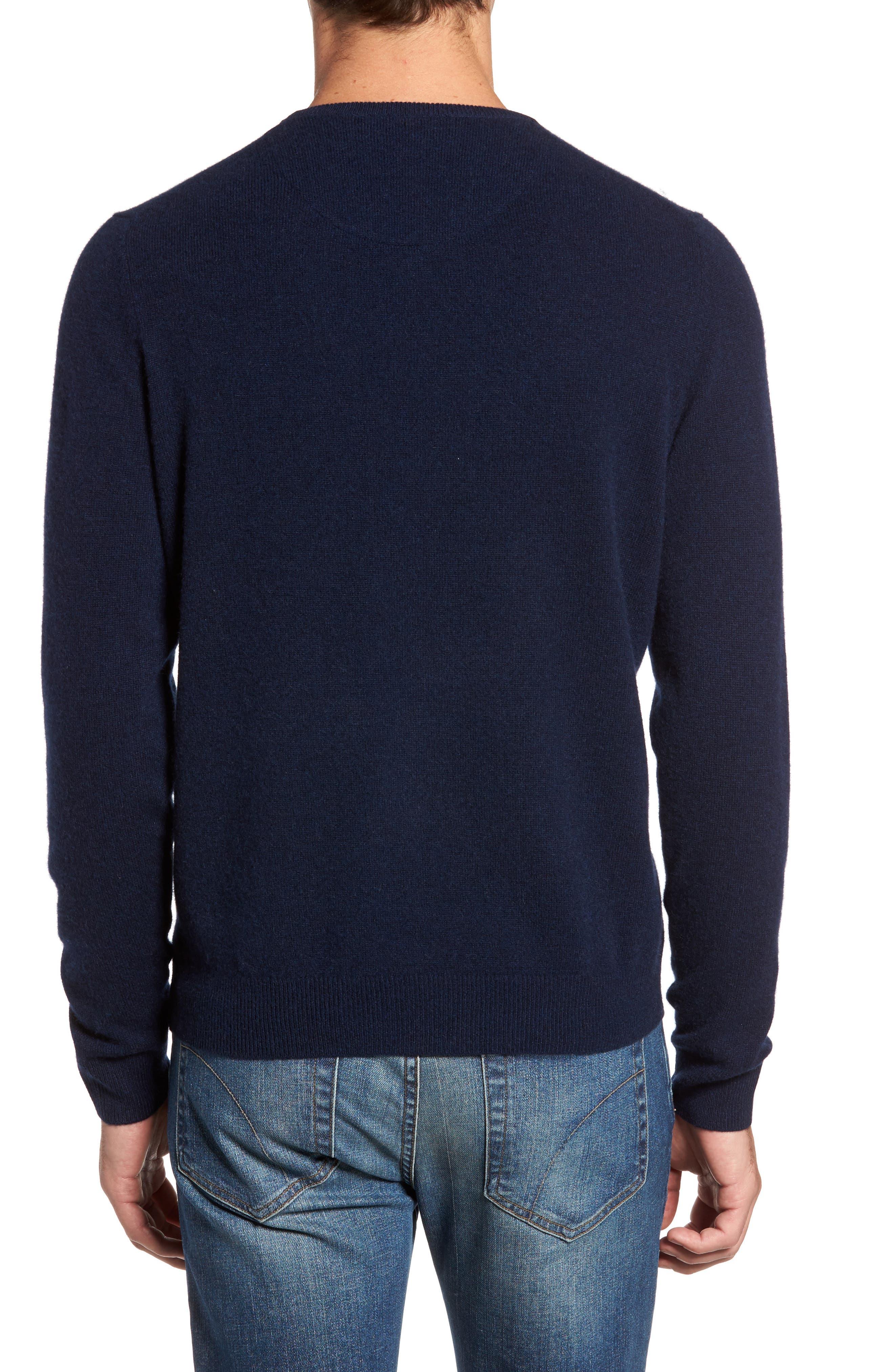 Cashmere Crewneck Sweater,                             Alternate thumbnail 2, color,                             Navy Charcoal