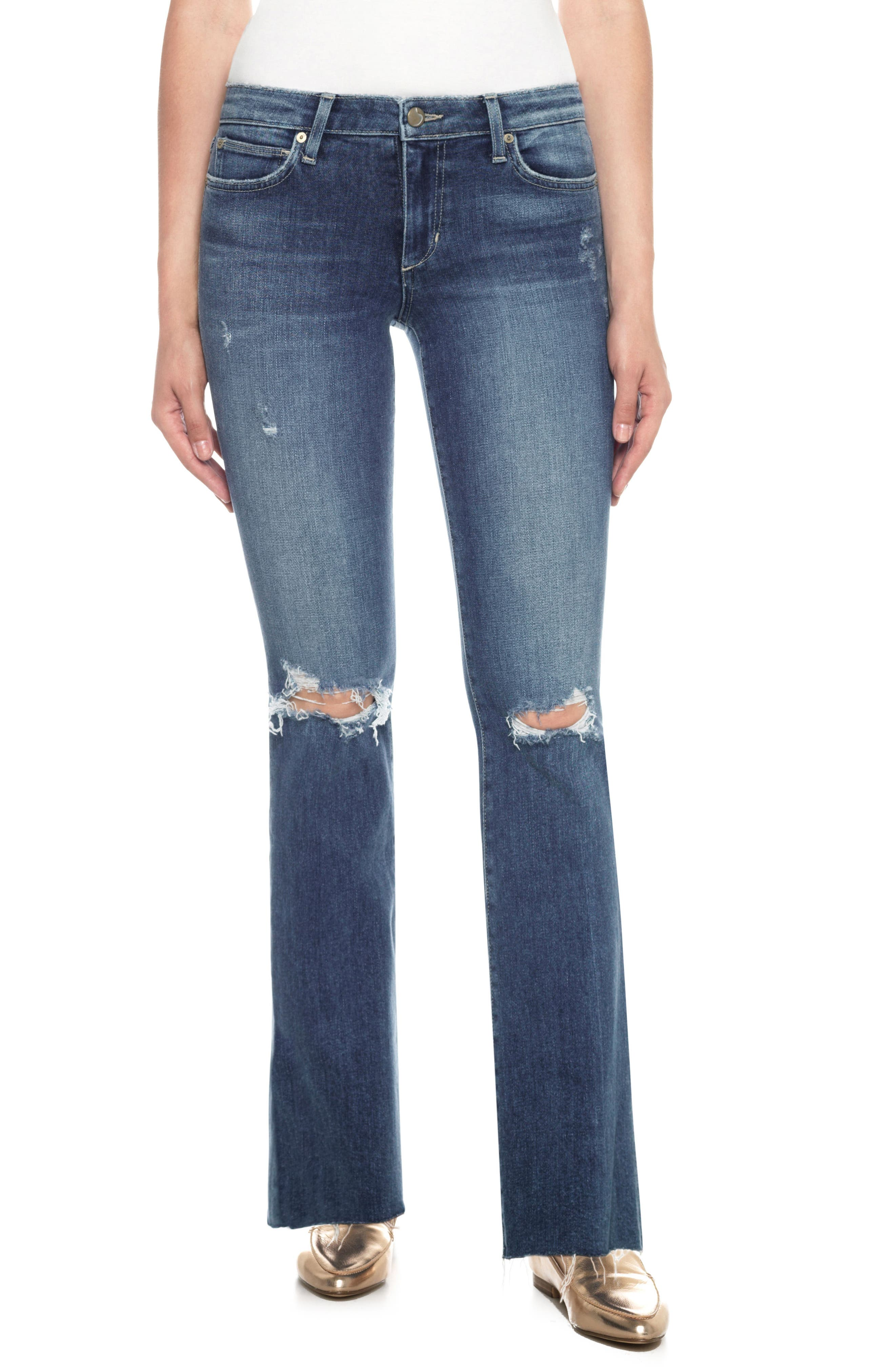 Provocateur Distressed Bootcut Jeans,                         Main,                         color, Kinkade