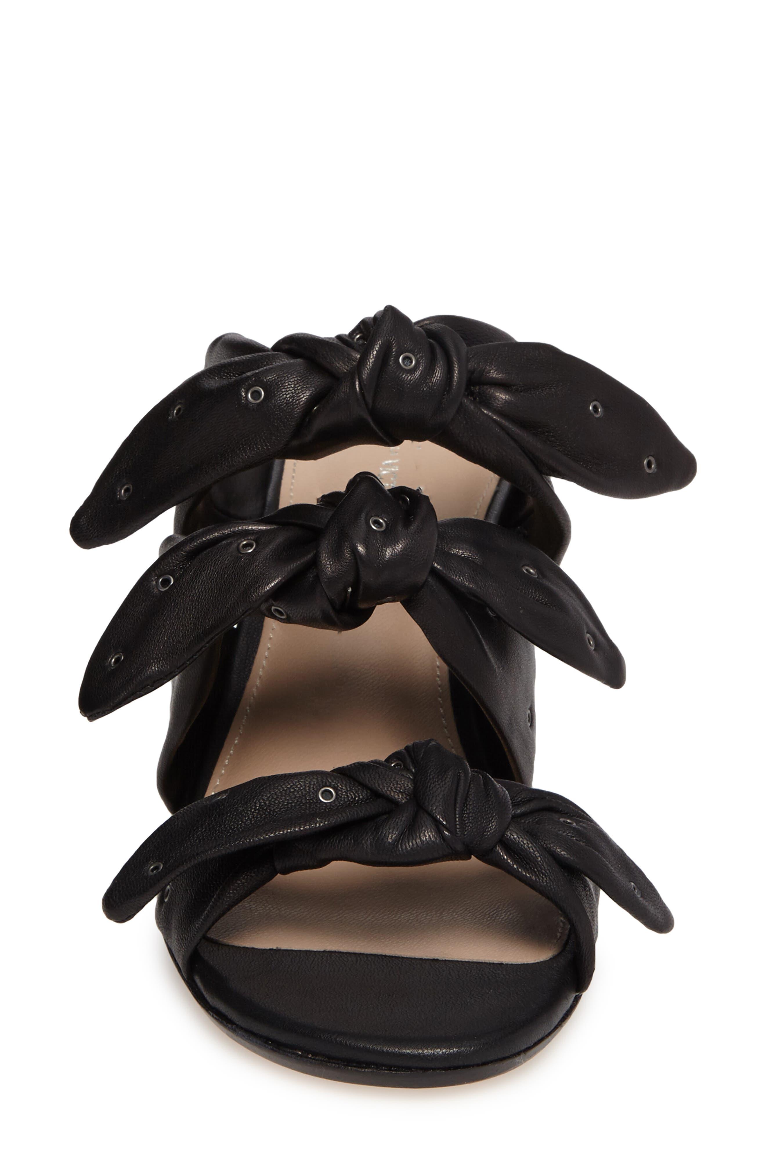 Pour la Victore Amal Block Heel Sandal,                             Alternate thumbnail 4, color,                             Black