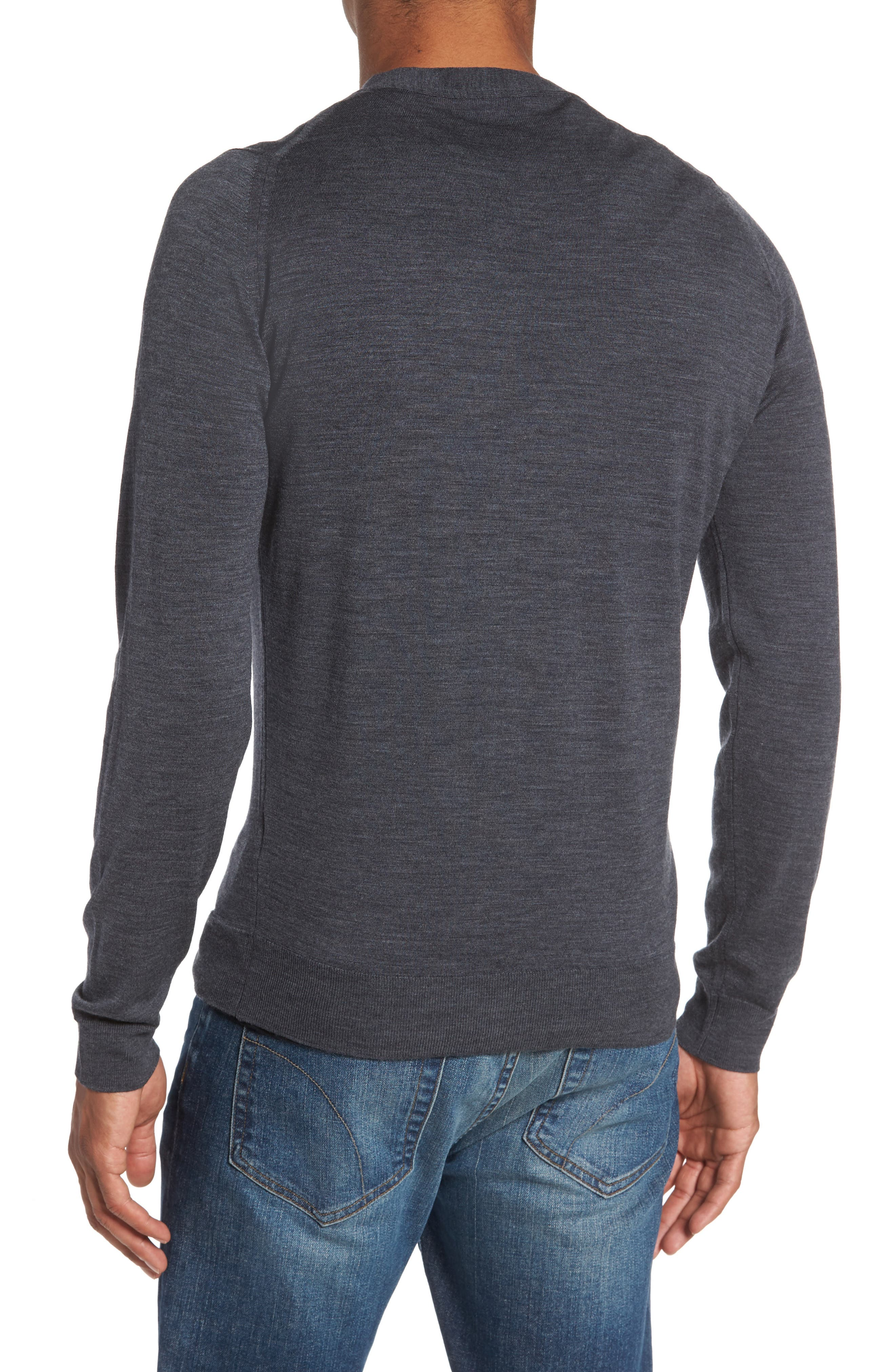 Alternate Image 2  - John Smedley Standard Fit Wool Cardigan