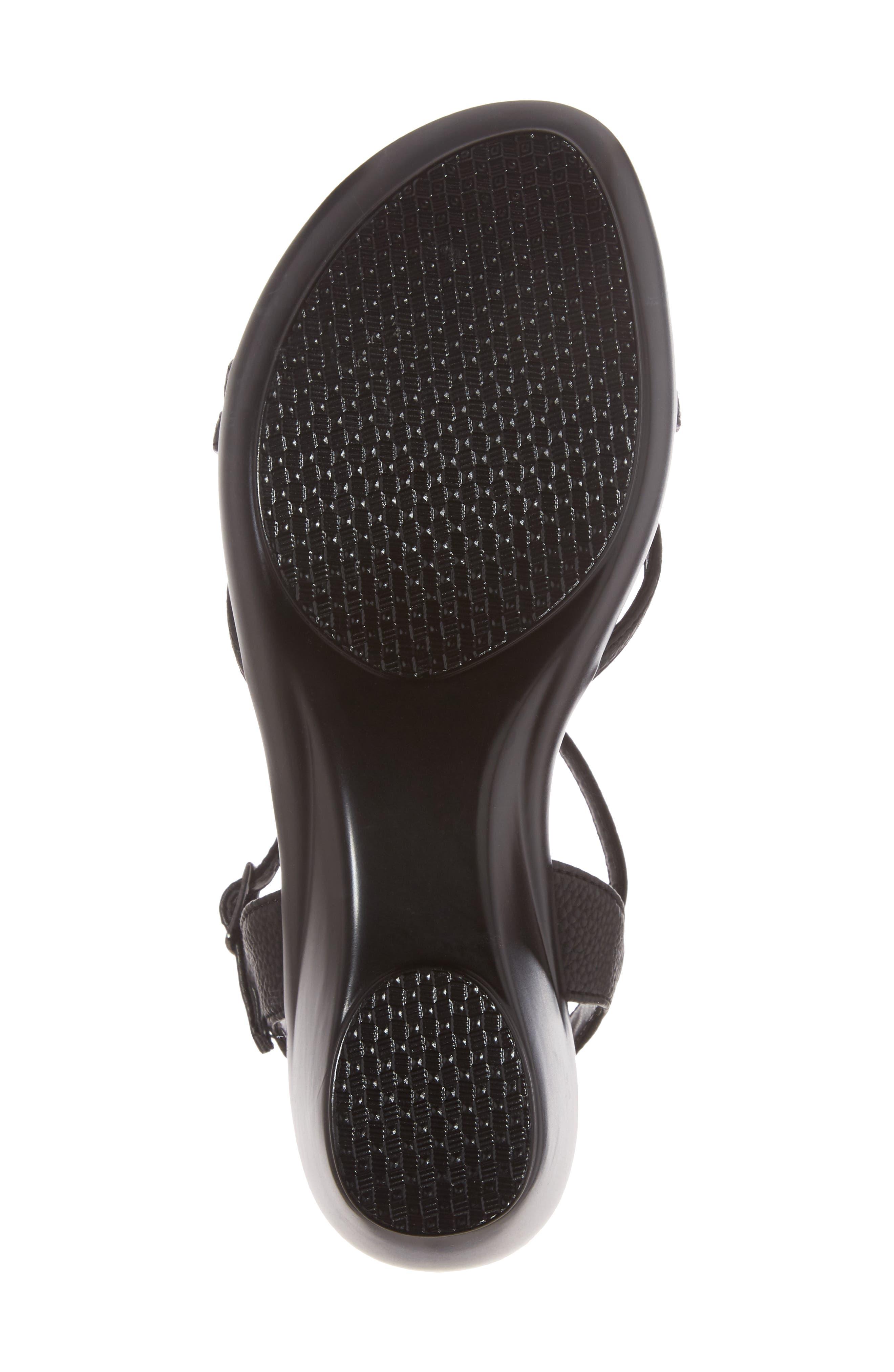 Cassort T-Strap Sandal,                             Alternate thumbnail 6, color,                             Black Faux Leather