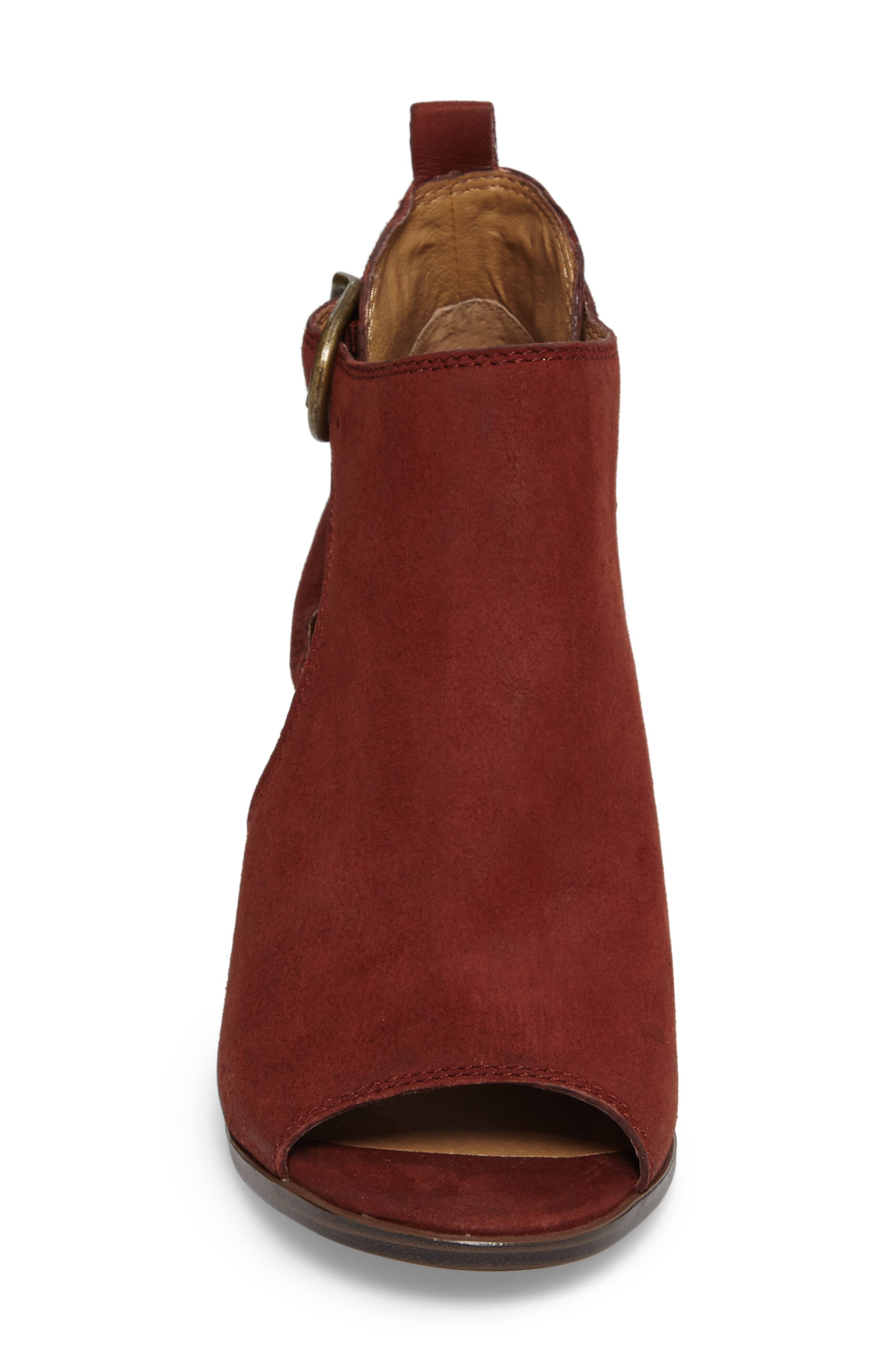 Oona Open Side Bootie,                             Alternate thumbnail 4, color,                             Sable Leather