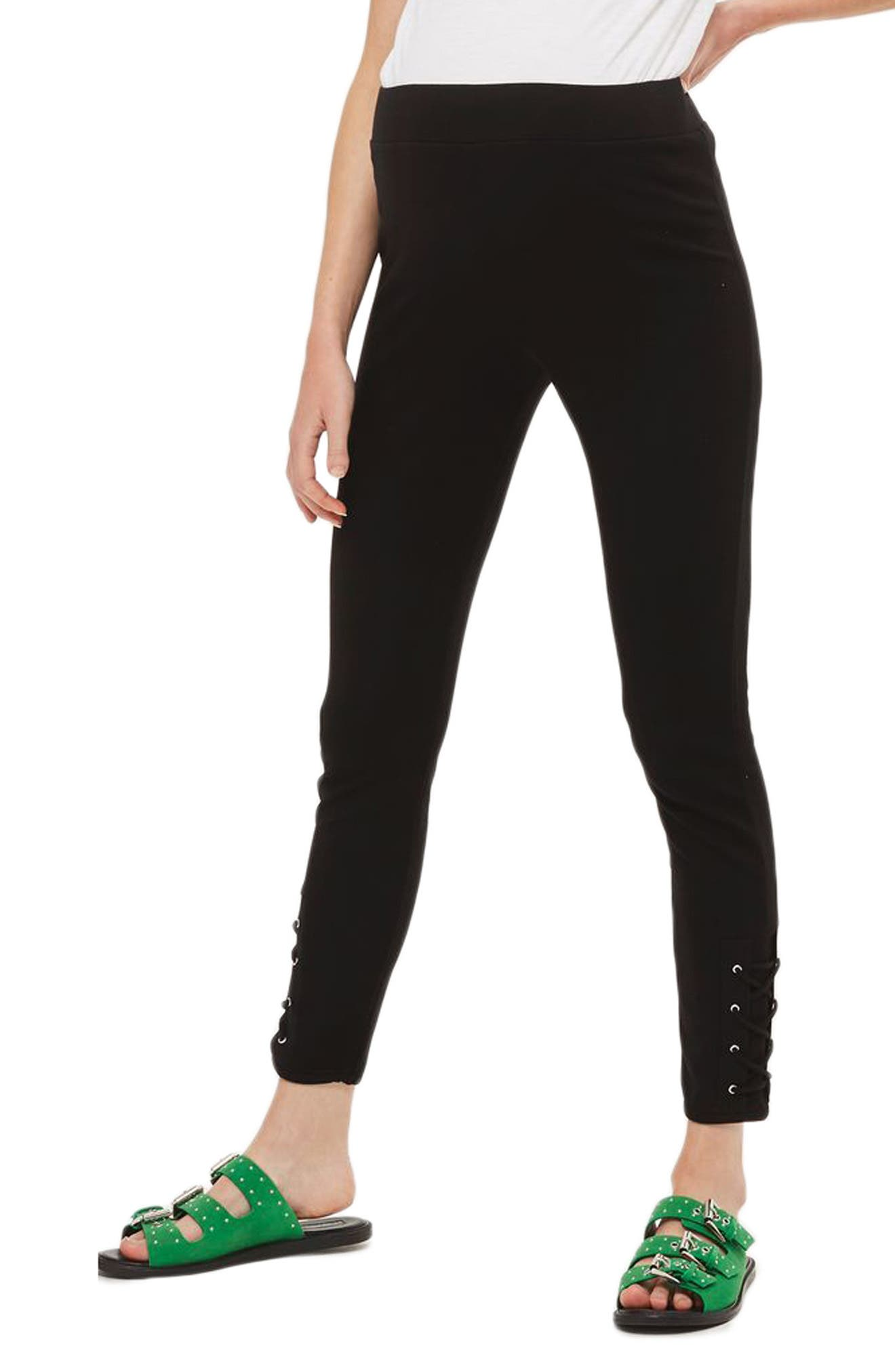 Topshop Lace-Up Ankle Maternity Leggings