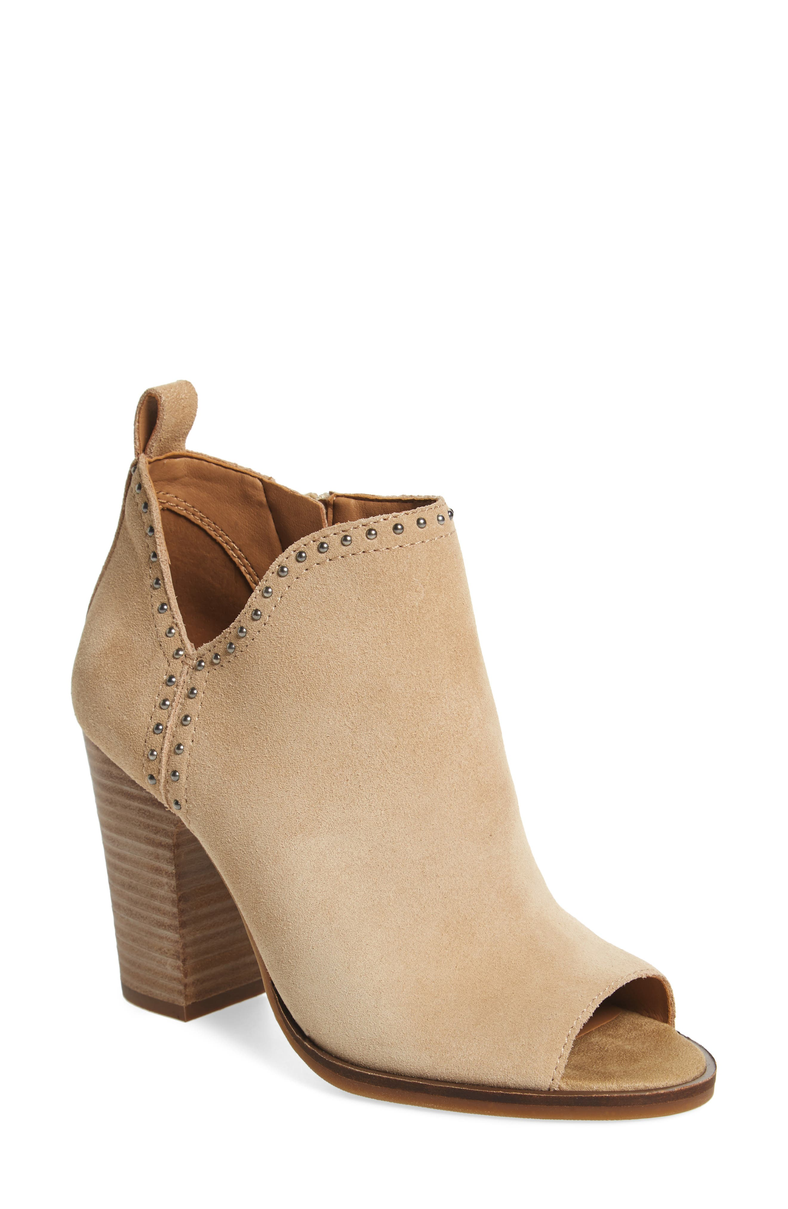 Alternate Image 1 Selected - Lucky Brand Lotisha Studded Open Toe Bootie (Women)