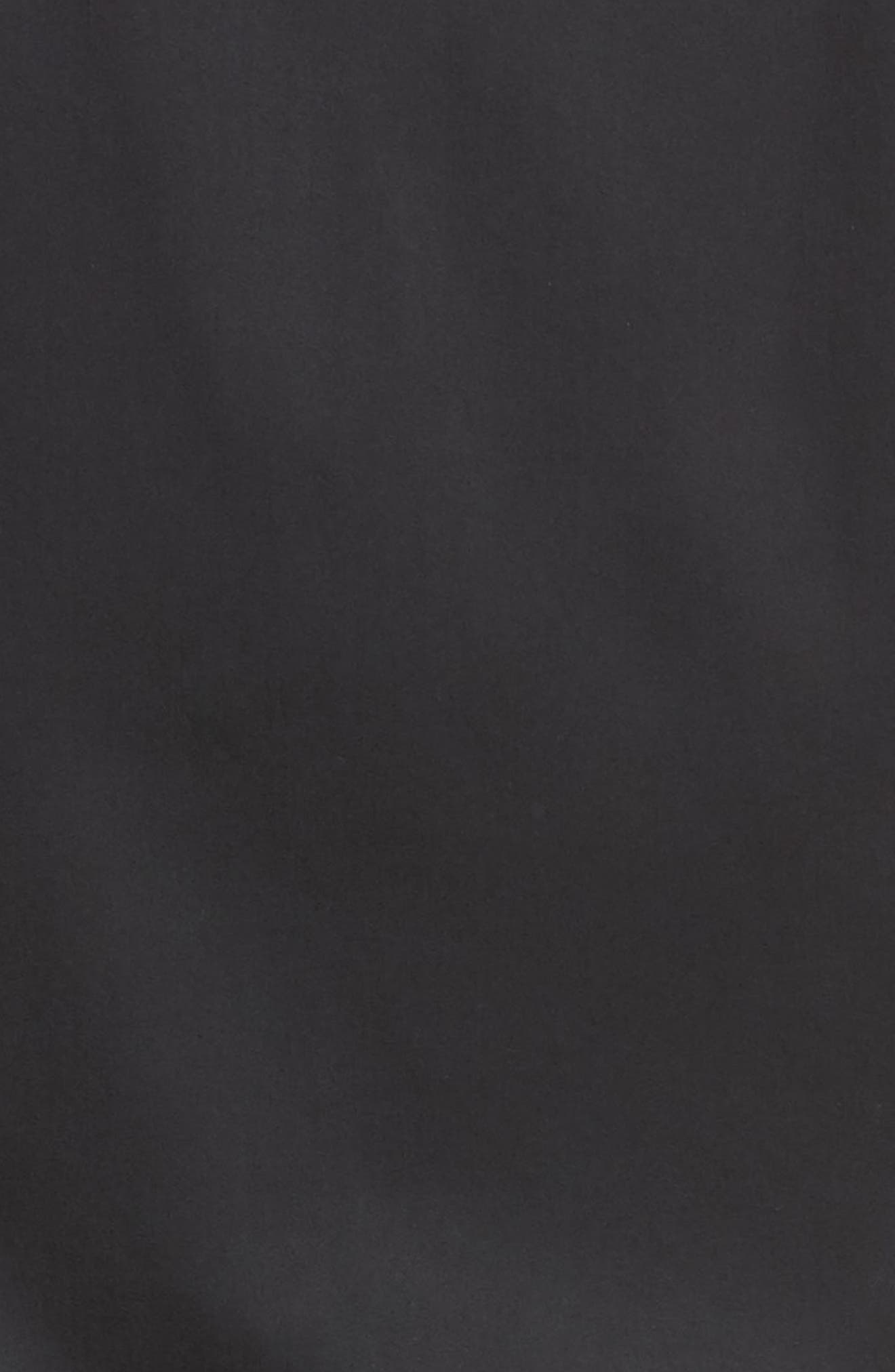 Woven & Knit Jacket,                             Alternate thumbnail 5, color,                             Black