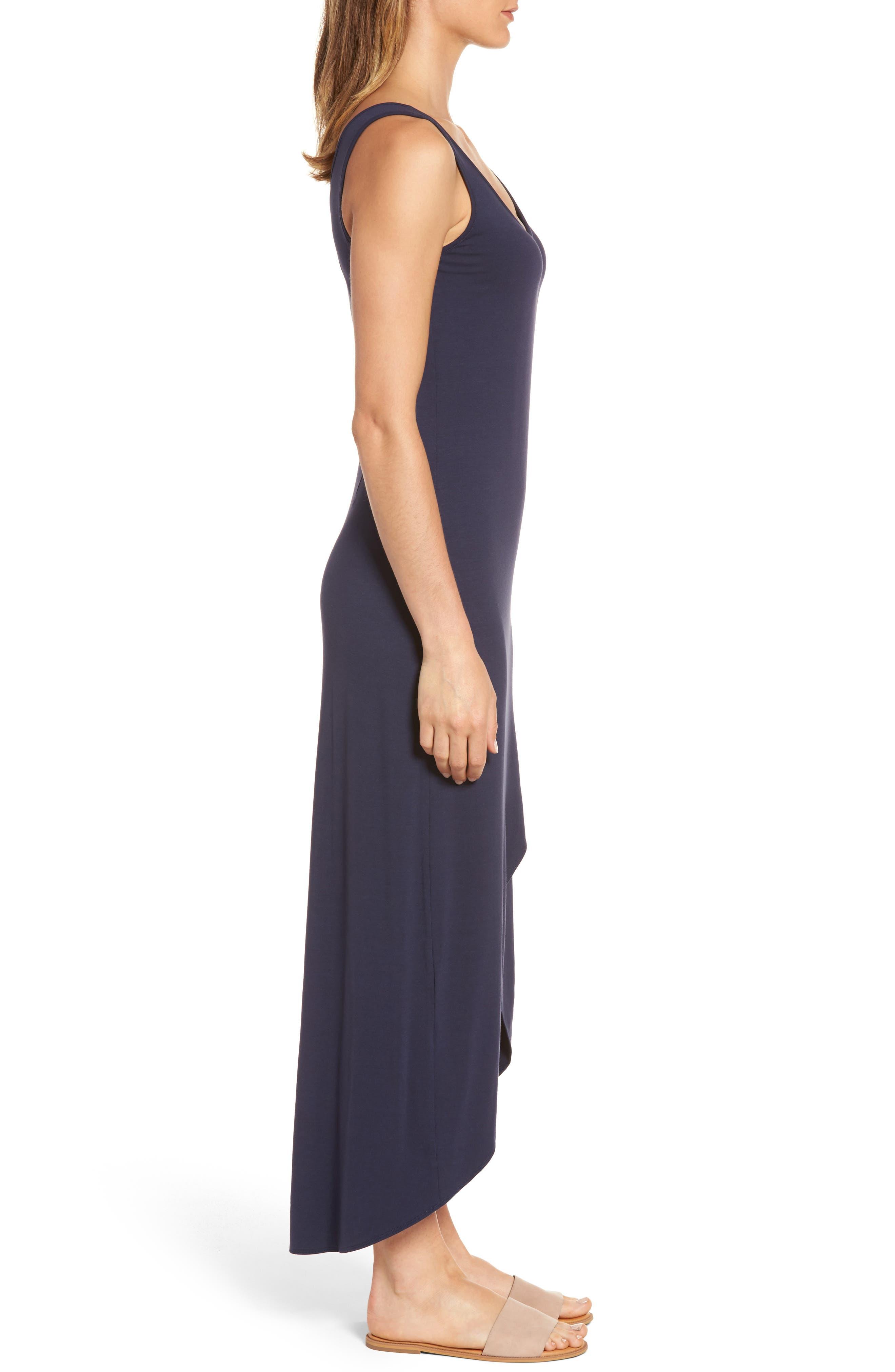 Tambour Maxi Dress,                             Alternate thumbnail 3, color,                             Ocean Deep