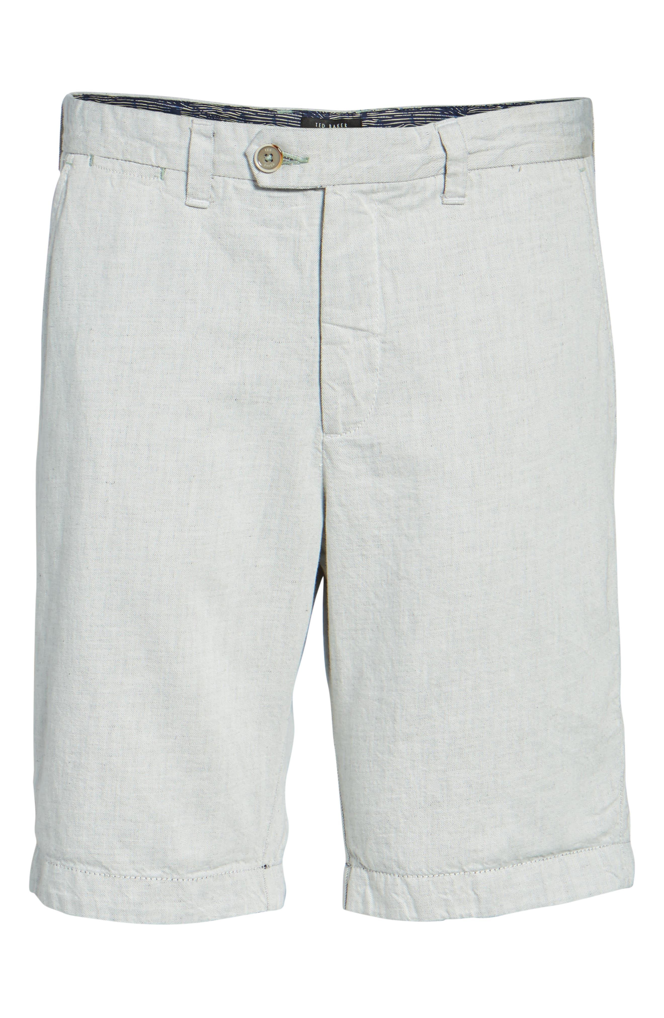 Frisho Cuff Denim Shorts,                             Alternate thumbnail 4, color,                             Light Grey
