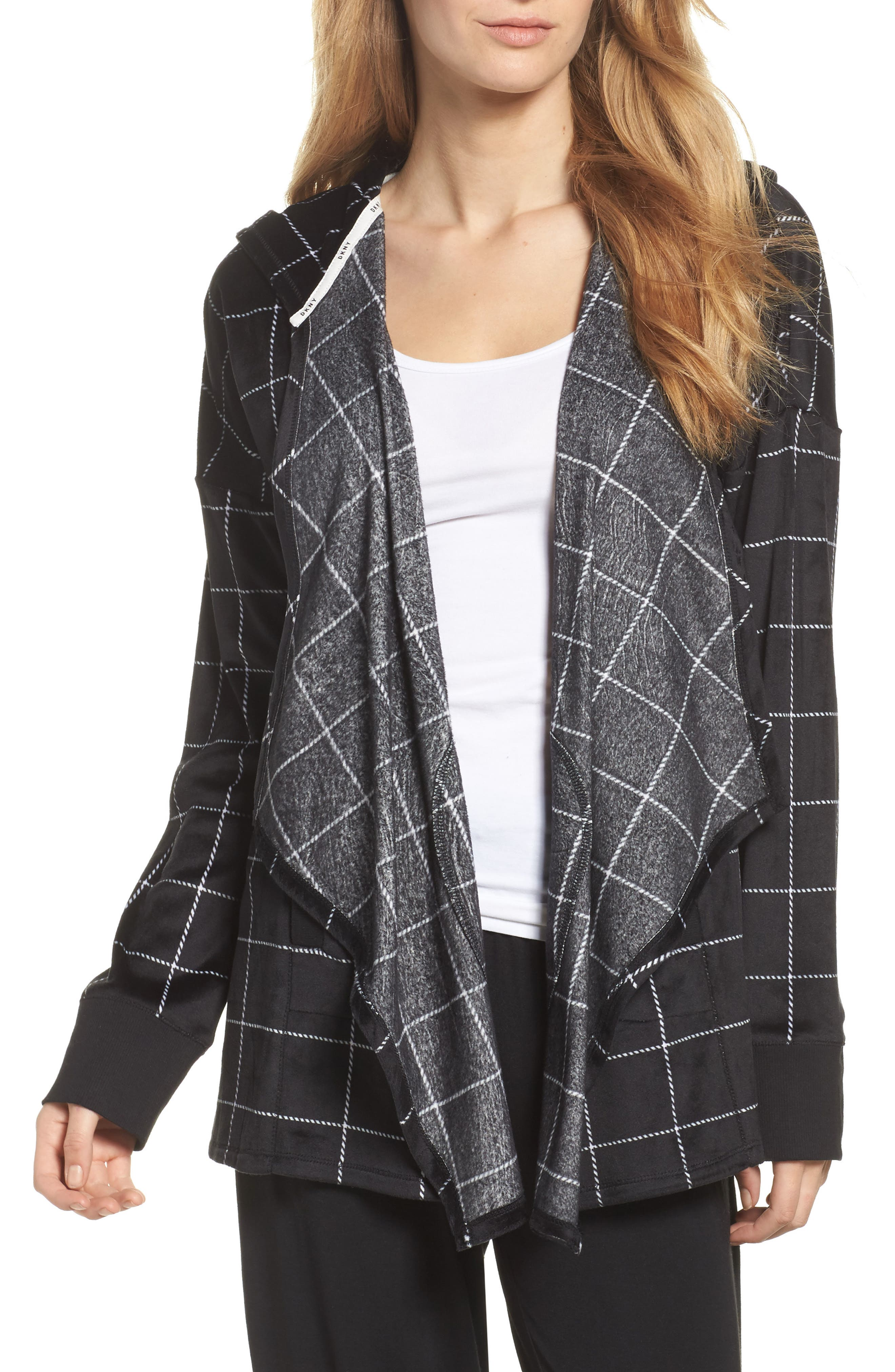 Alternate Image 1 Selected - DKNY Drape Front Sweatshirt