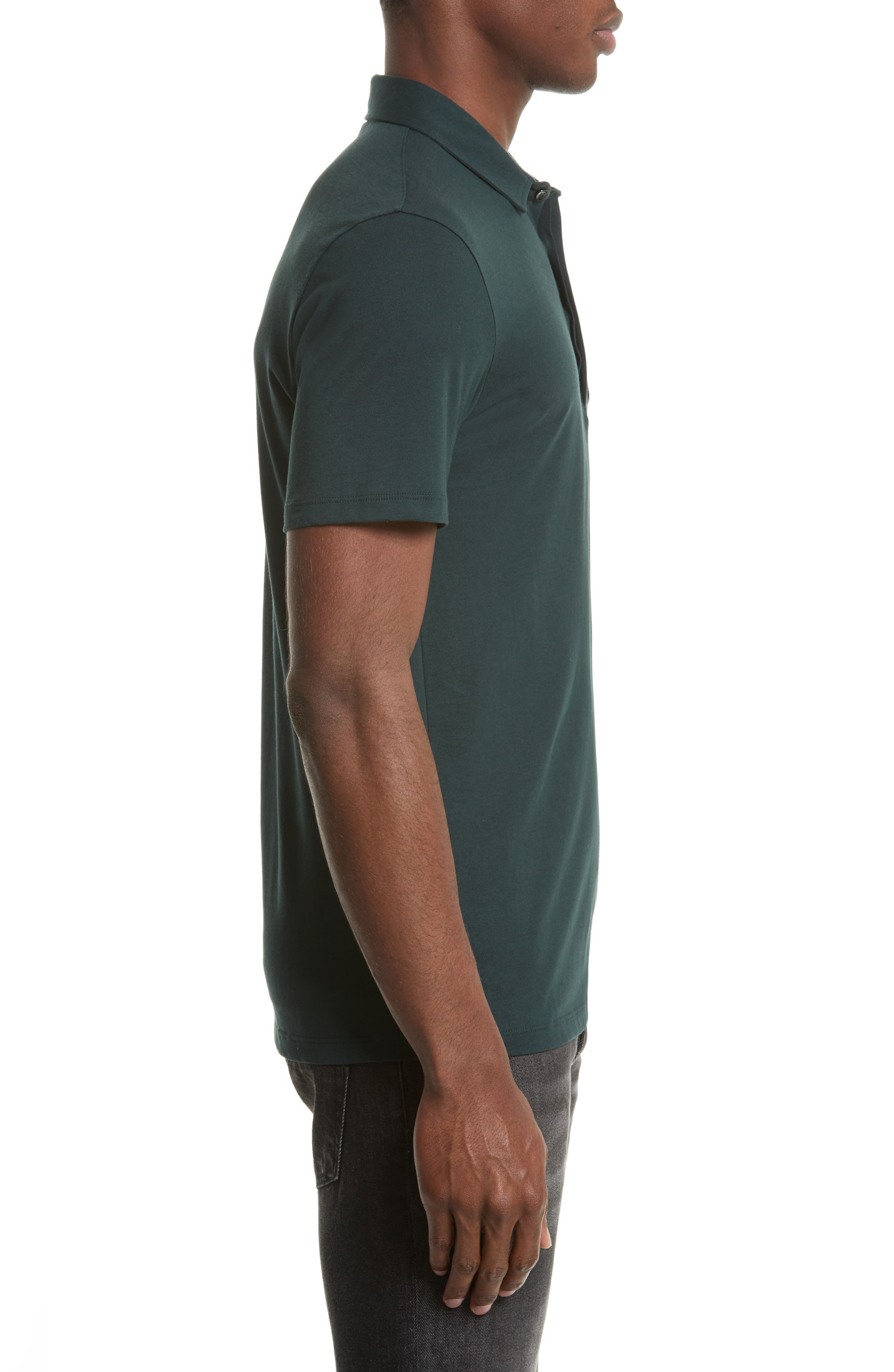 Crest Patch Jersey Polo,                             Alternate thumbnail 3, color,                             Jungle Green