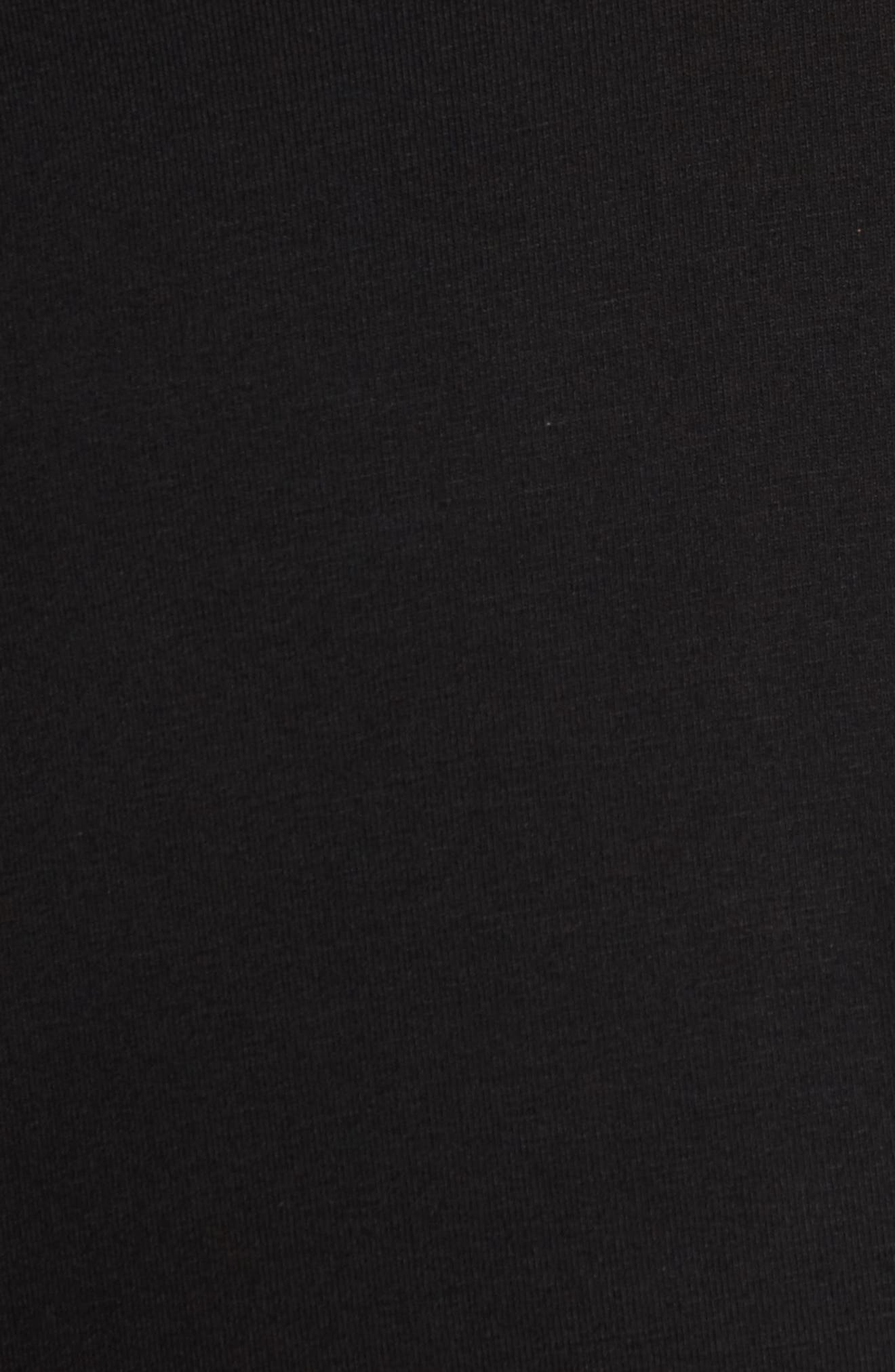 Paola Maternity Trapeze Dress,                             Alternate thumbnail 5, color,                             Caviar Black