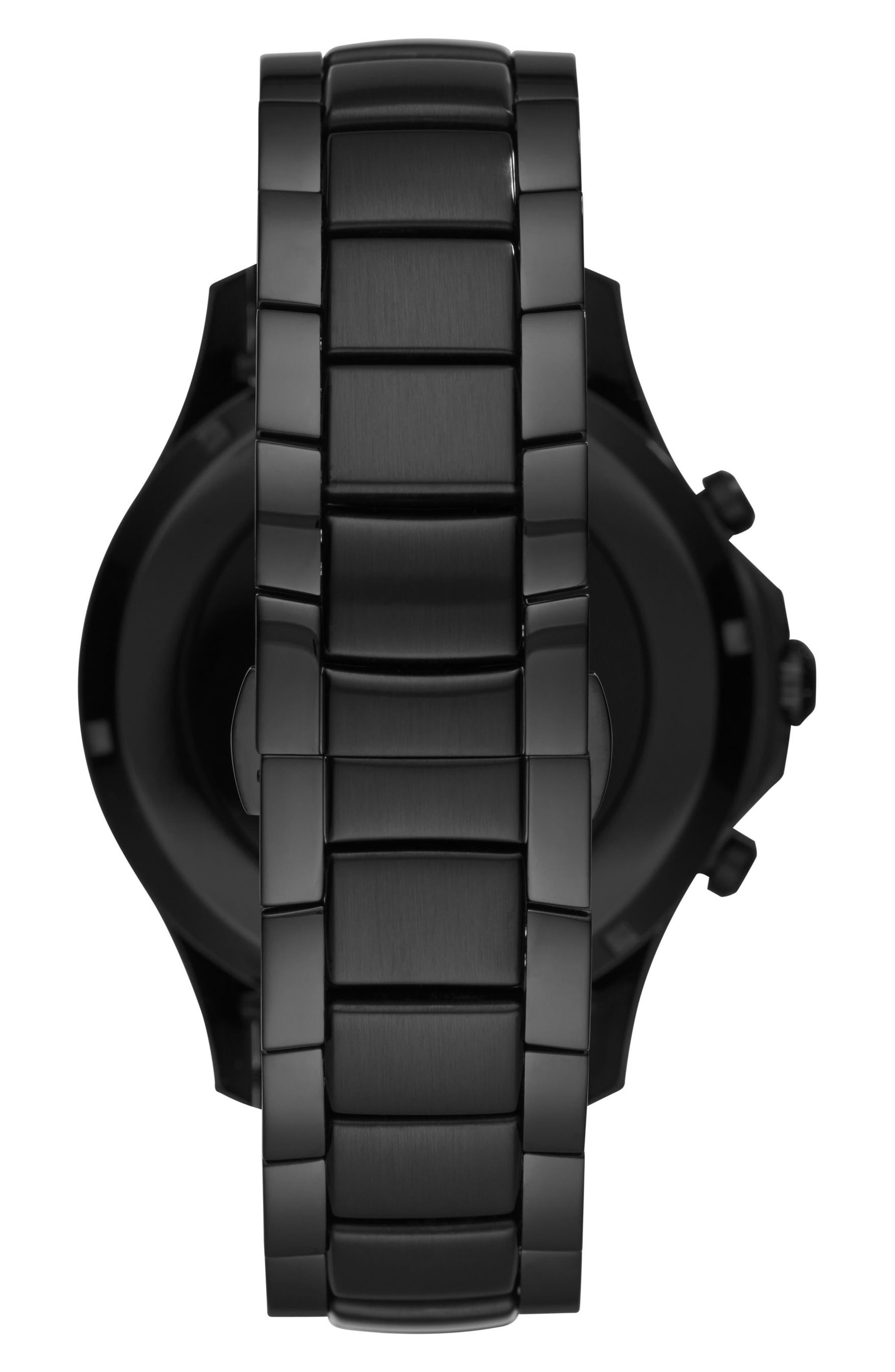 Touchscreen Bracelet Smartwatch, 46mm,                             Alternate thumbnail 3, color,                             Black/ Black