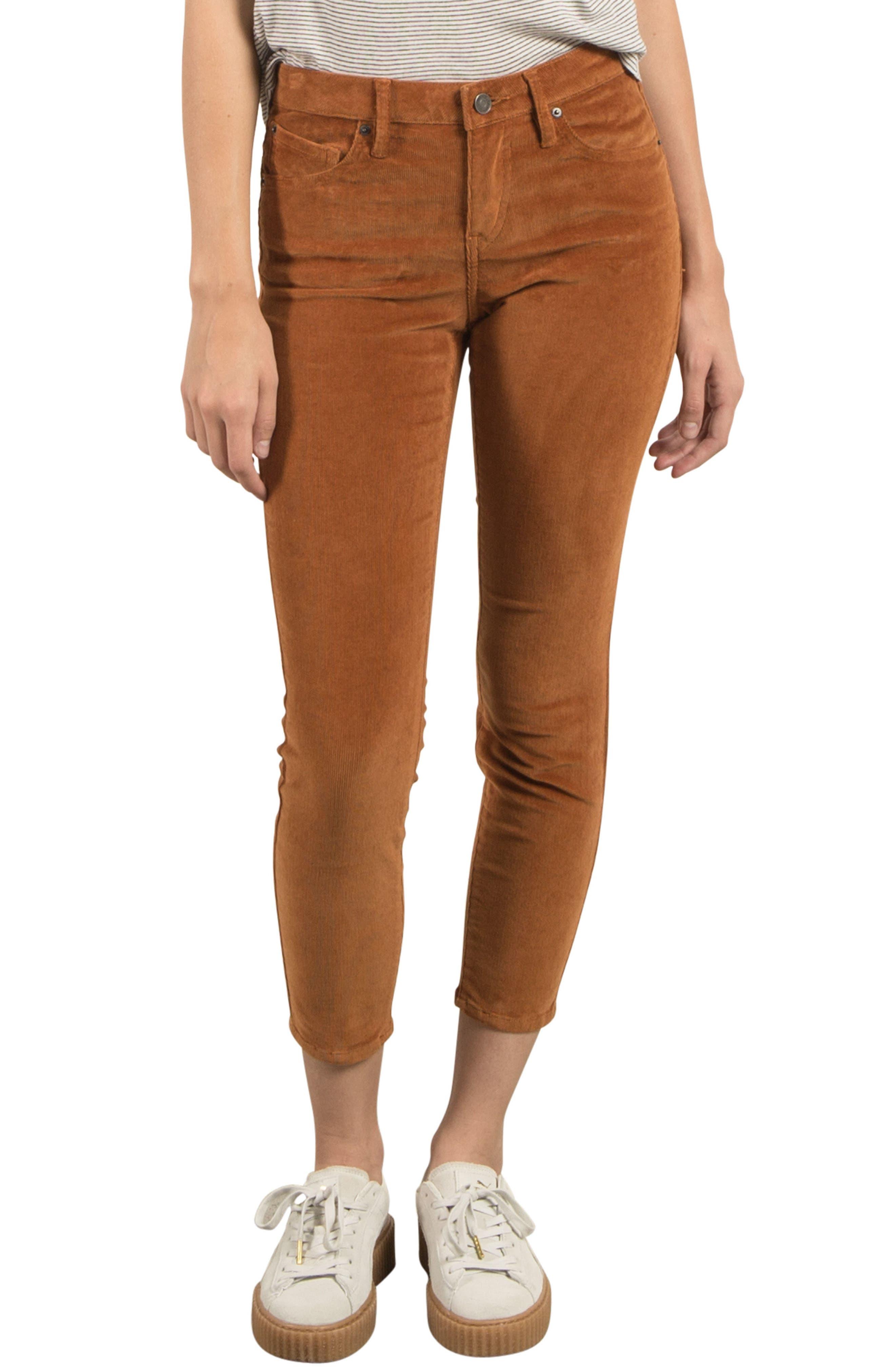 Volcom Corduroy Ankle Skinny Jeans