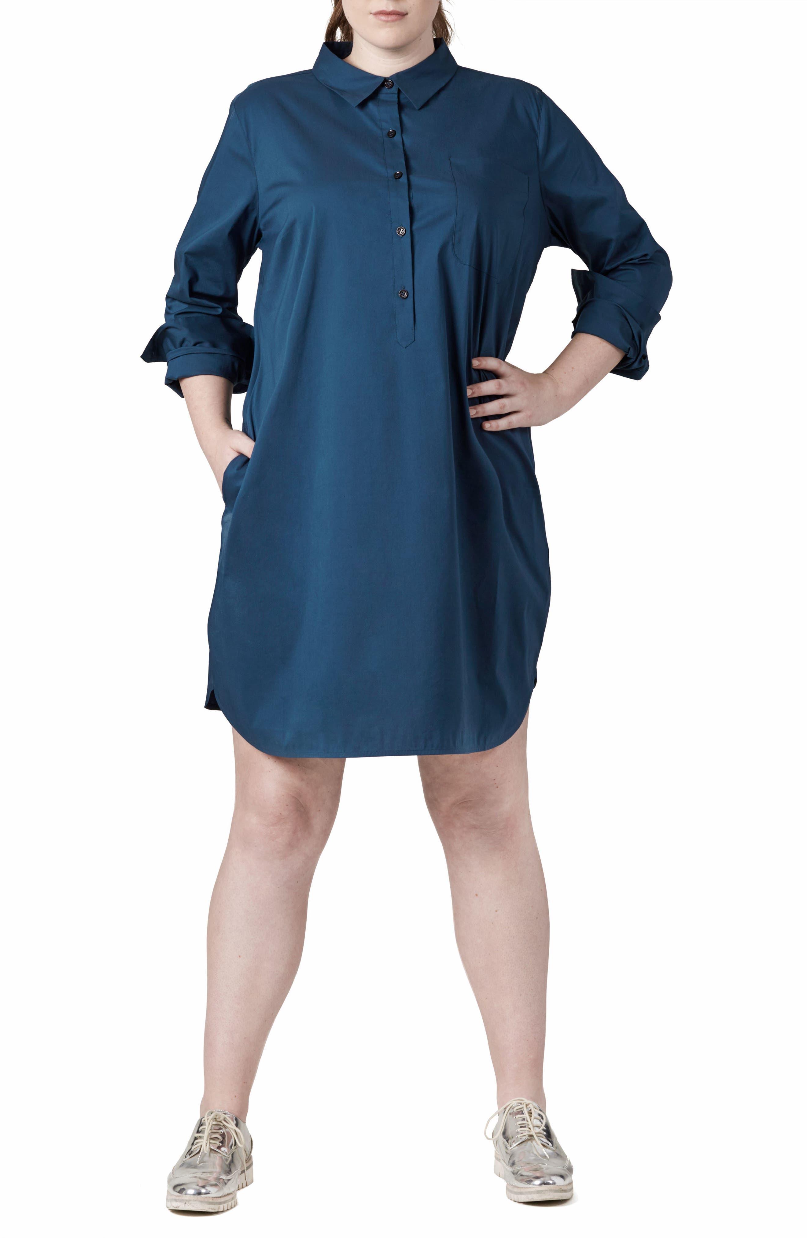 Alternate Image 1 Selected - UNIVERSAL STANDARD Rubicon Shirtdress (Plus Size)