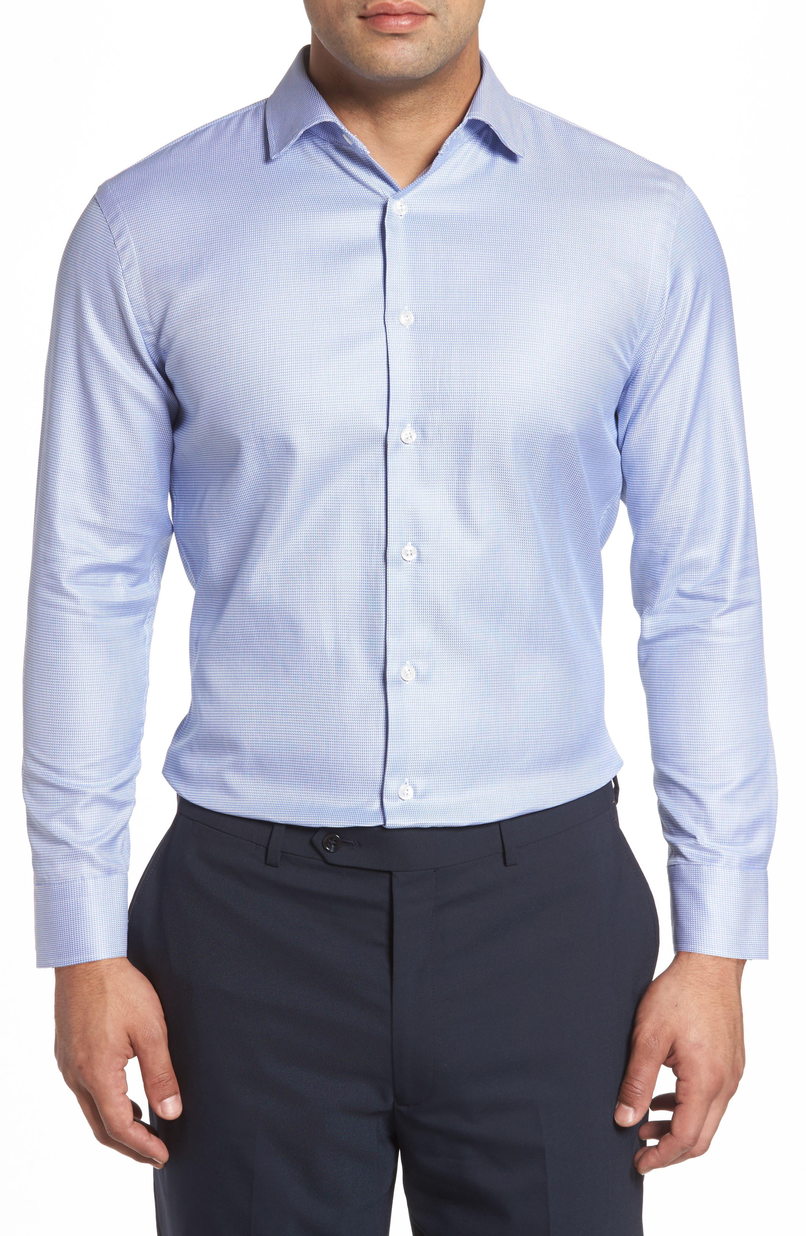 Alternate Image 2  - John W. Nordstrom® Trim Fit Solid Dress Shirt