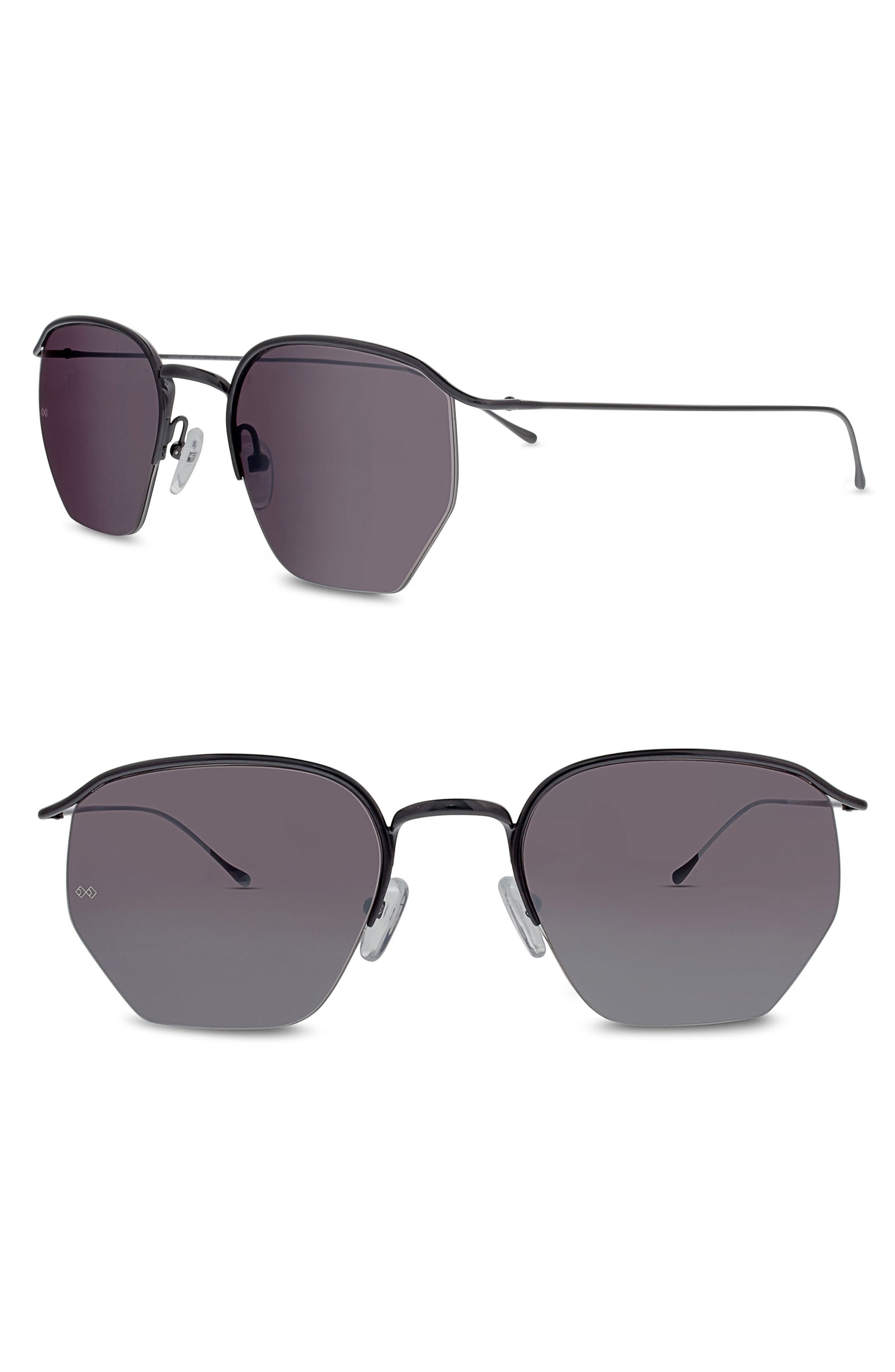 Alternate Image 1 Selected - SMOKE X MIRRORS Geo I 51mm Semi Rimless Sunglasses