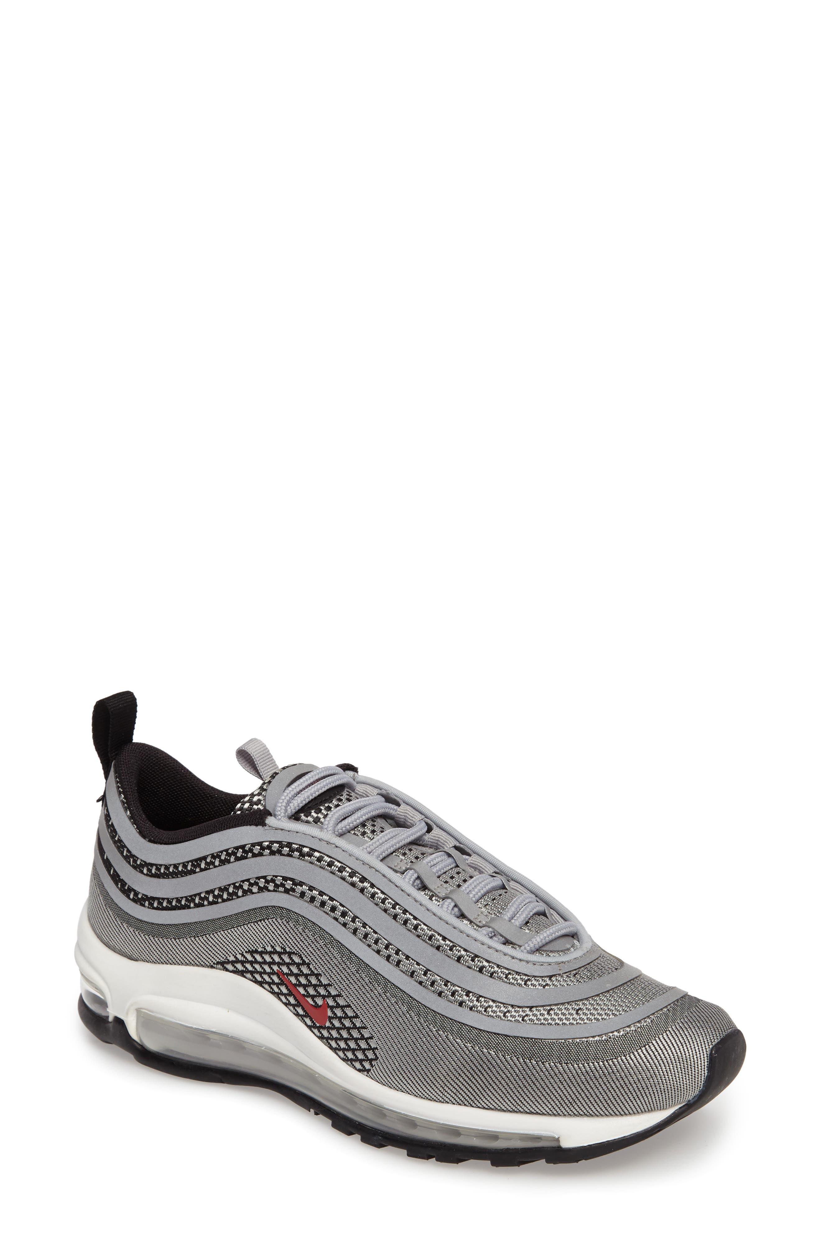 Air Max 97 Ultralight 2017 Sneaker,                             Main thumbnail 1, color,                             Metallic Silver/ Varsity Red