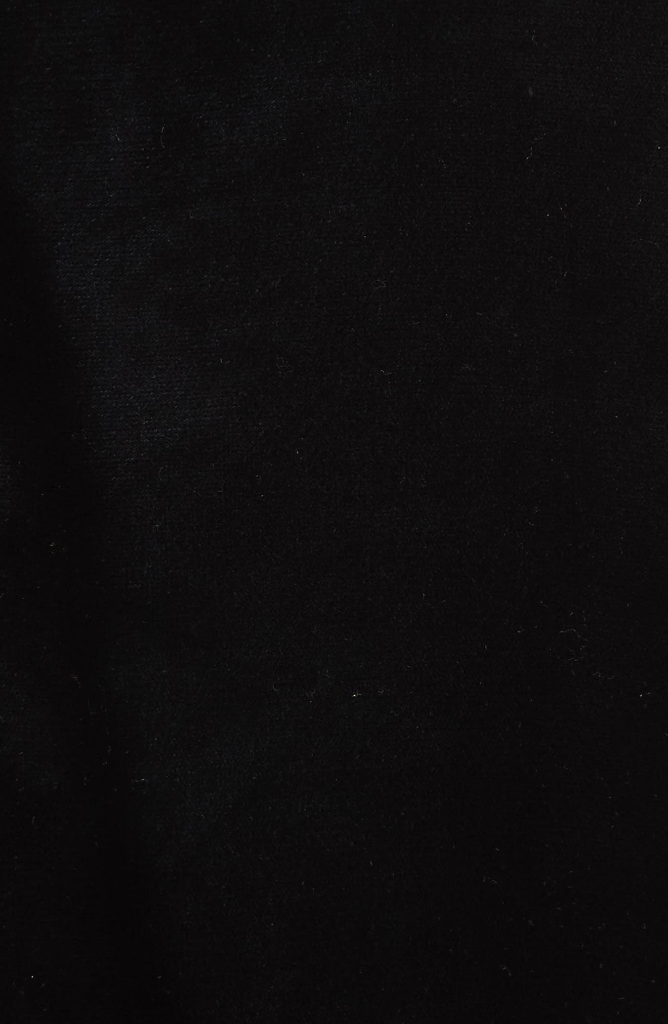 OS-1 Reversible Velvet Bomber Jacket,                             Alternate thumbnail 5, color,                             Black