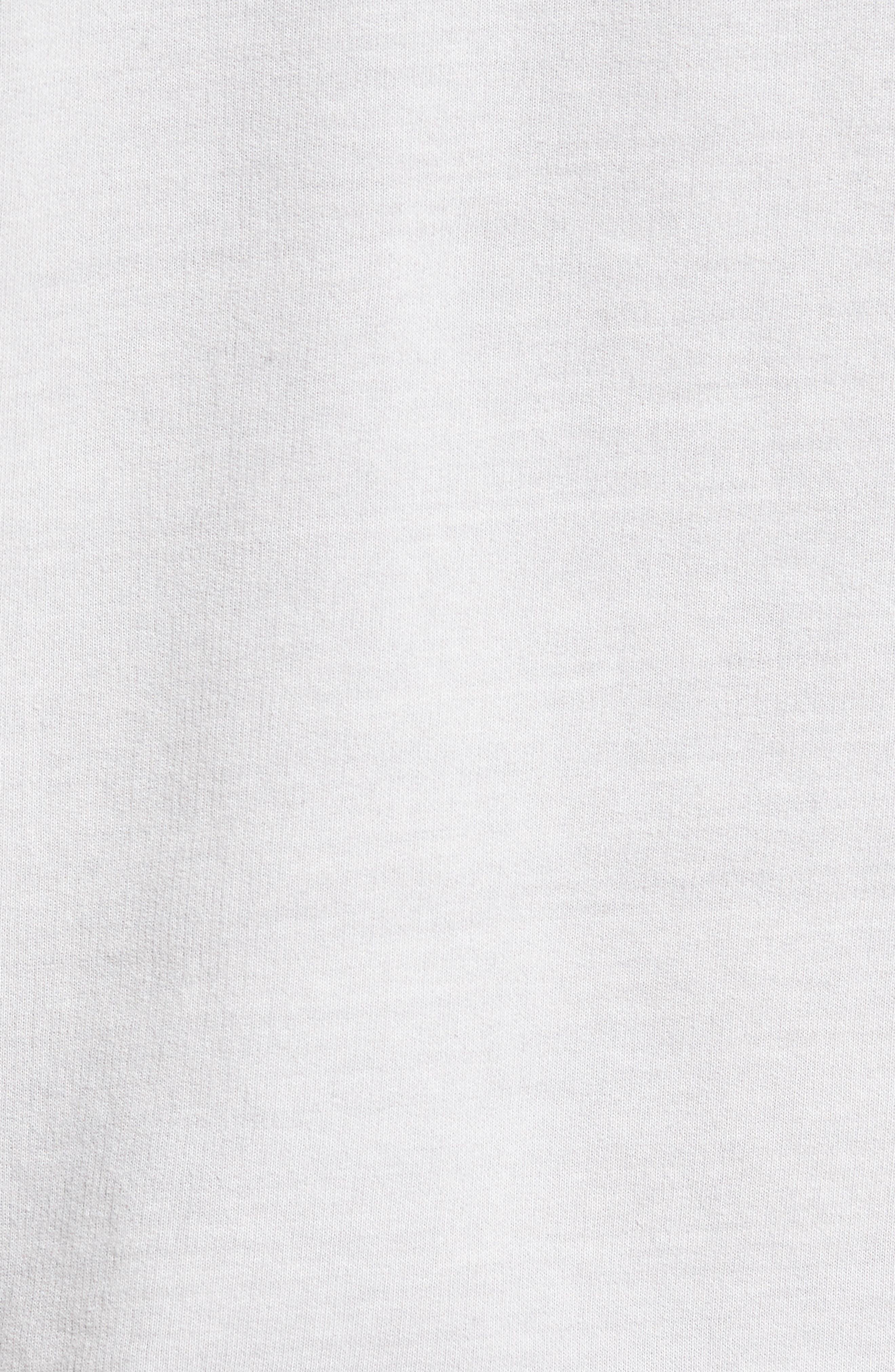 Brendan Raw Edge Crewneck Sweatshirt,                             Alternate thumbnail 6, color,                             Pigment Chrome