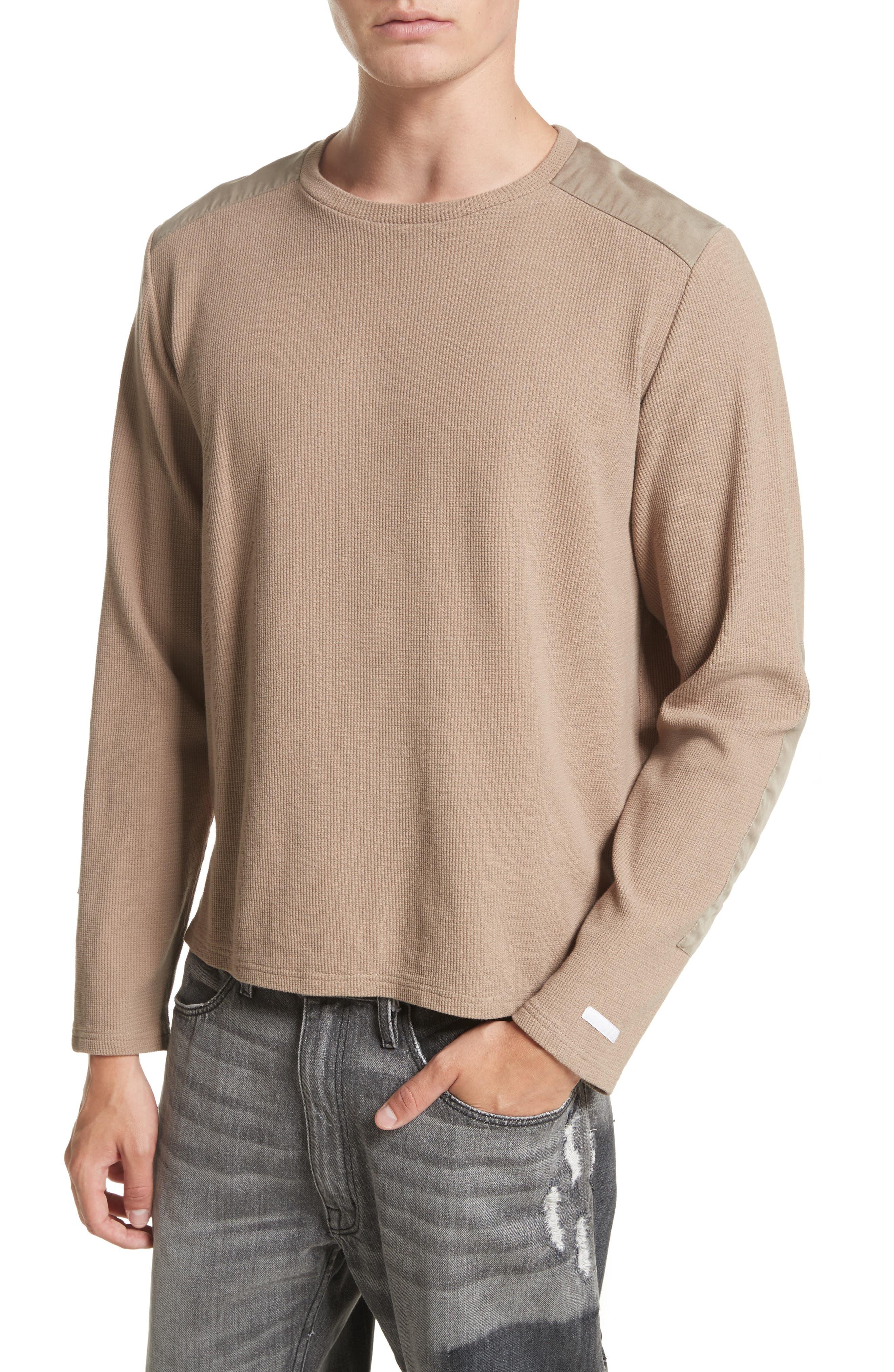 Crewneck Sweater,                             Alternate thumbnail 4, color,                             Mushroom