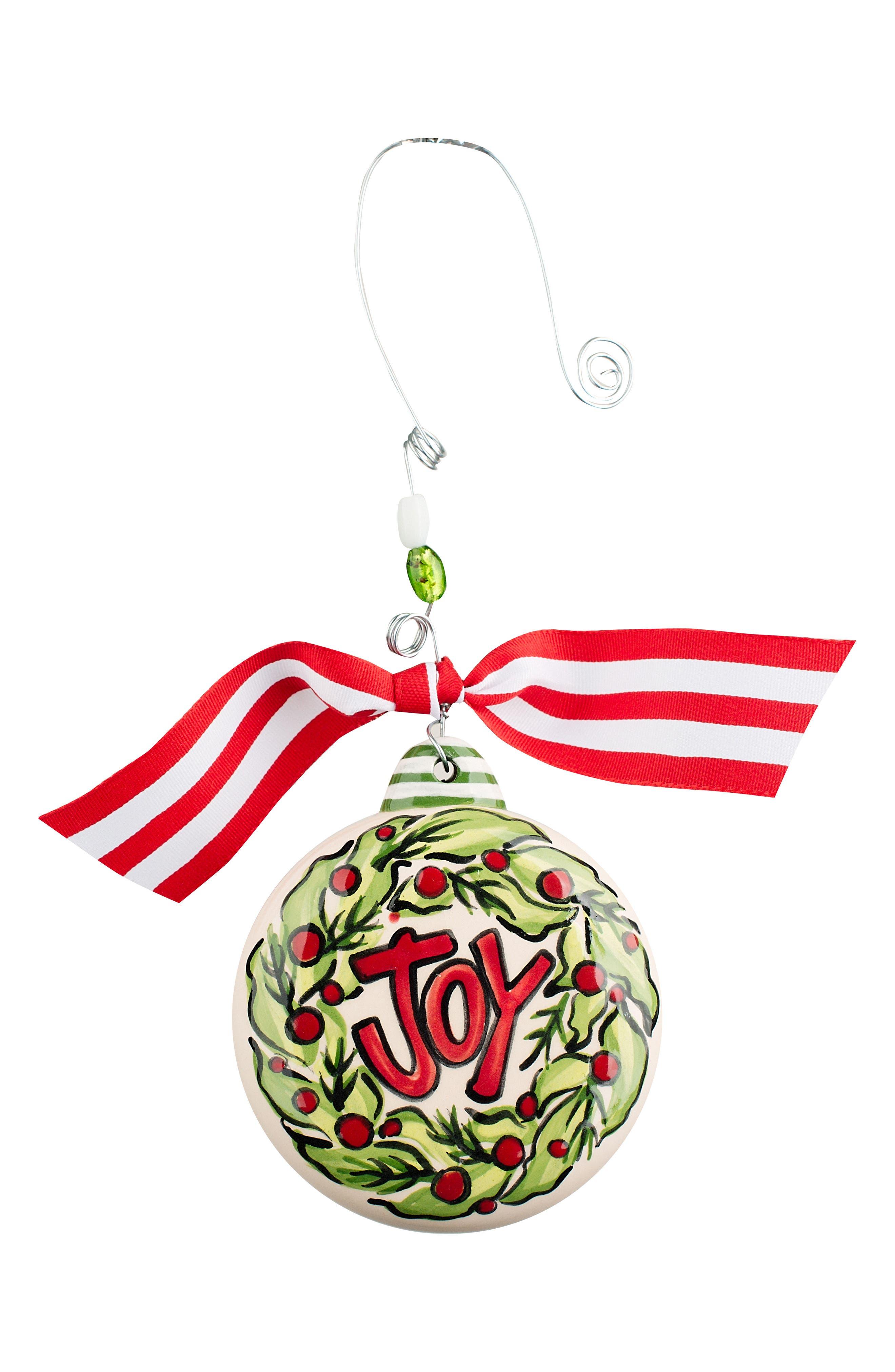 Glory Haus Joy Wreath Ceramic Ornament