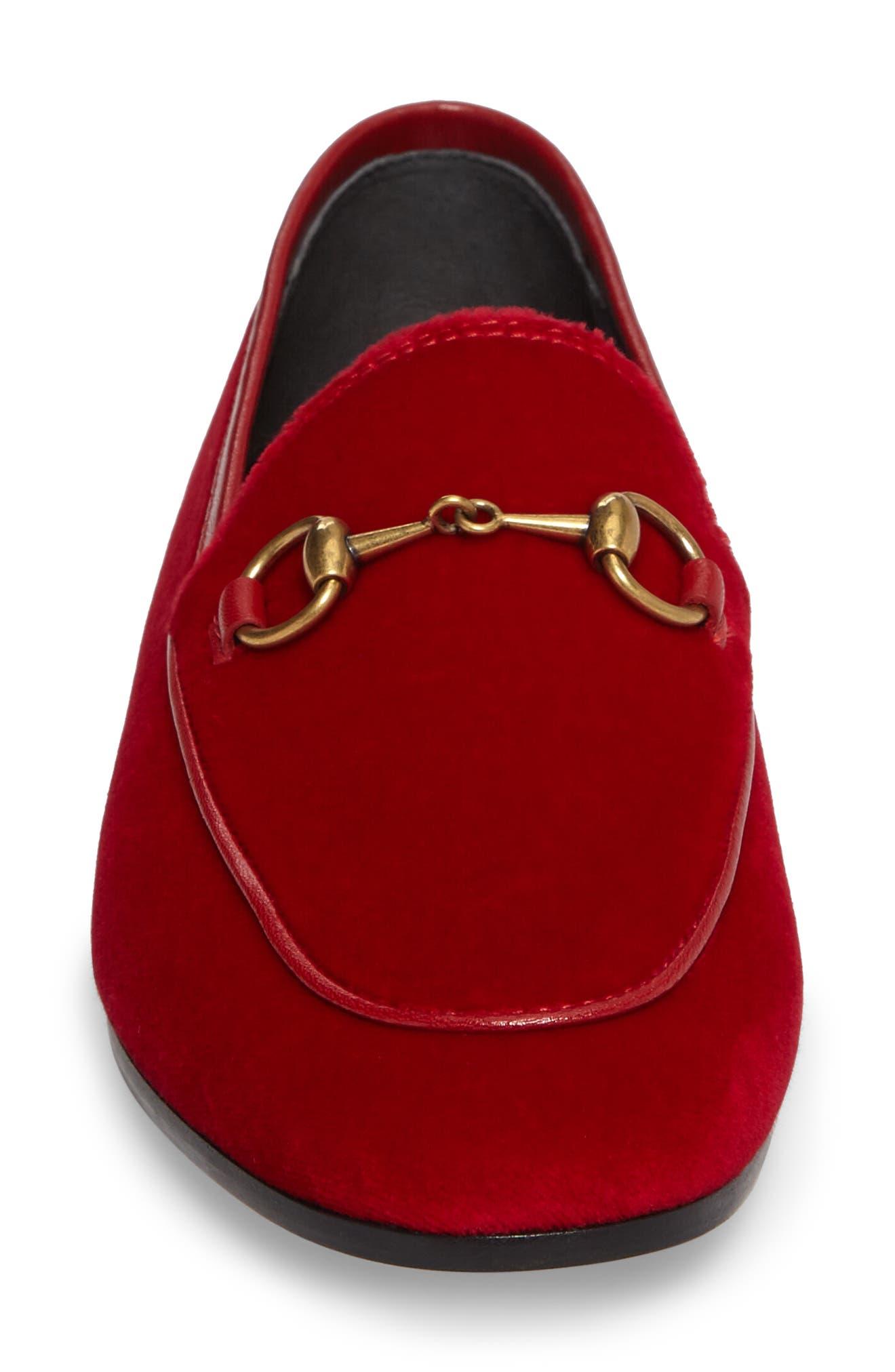 Alternate Image 4  - Gucci Brixton Velvet Loafer (Women)