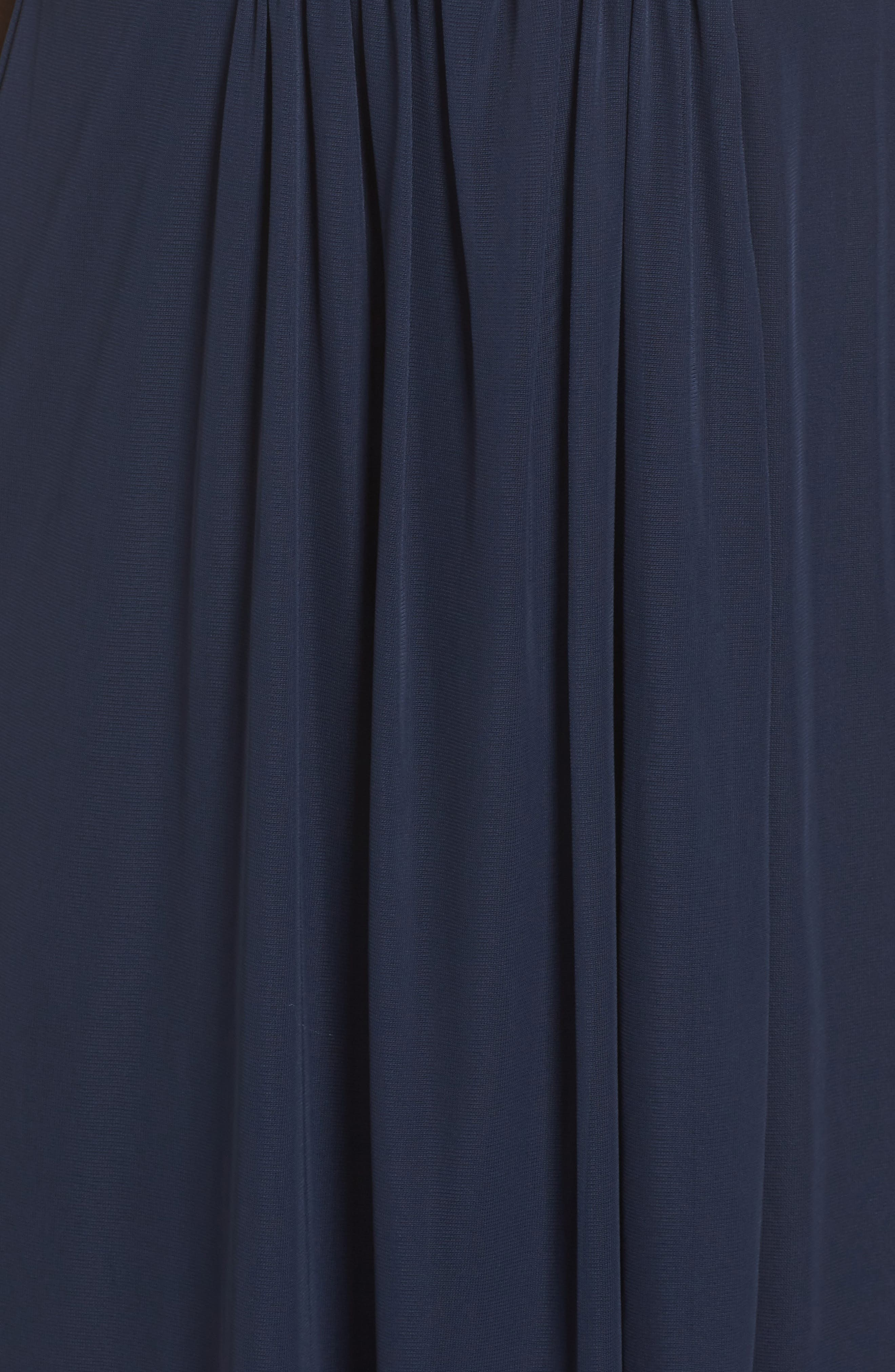 Embellished Gown,                             Alternate thumbnail 5, color,                             Navy